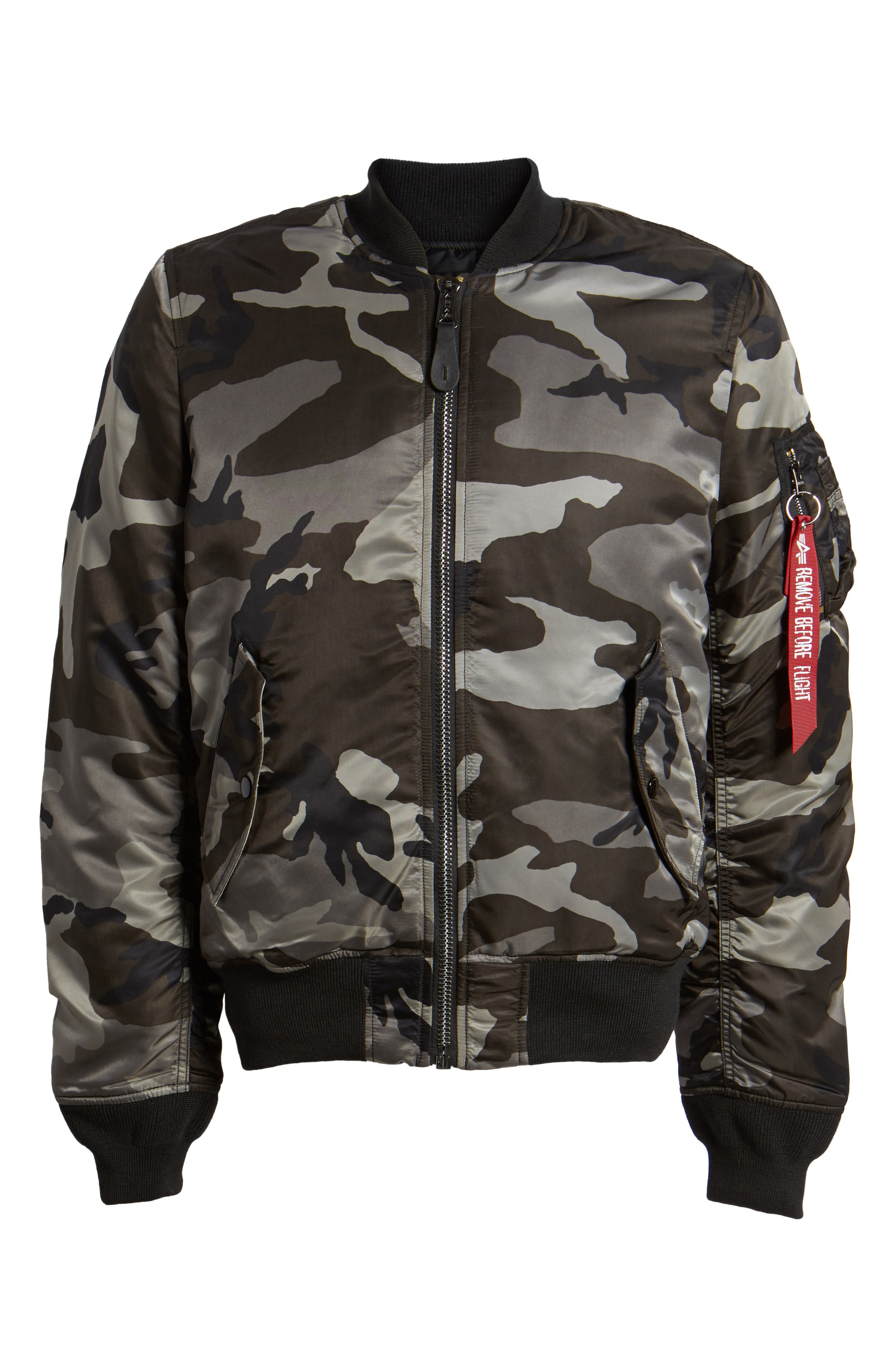 'MA-1' Slim Fit Bomber Jacket,                             Alternate thumbnail 6, color,                             005