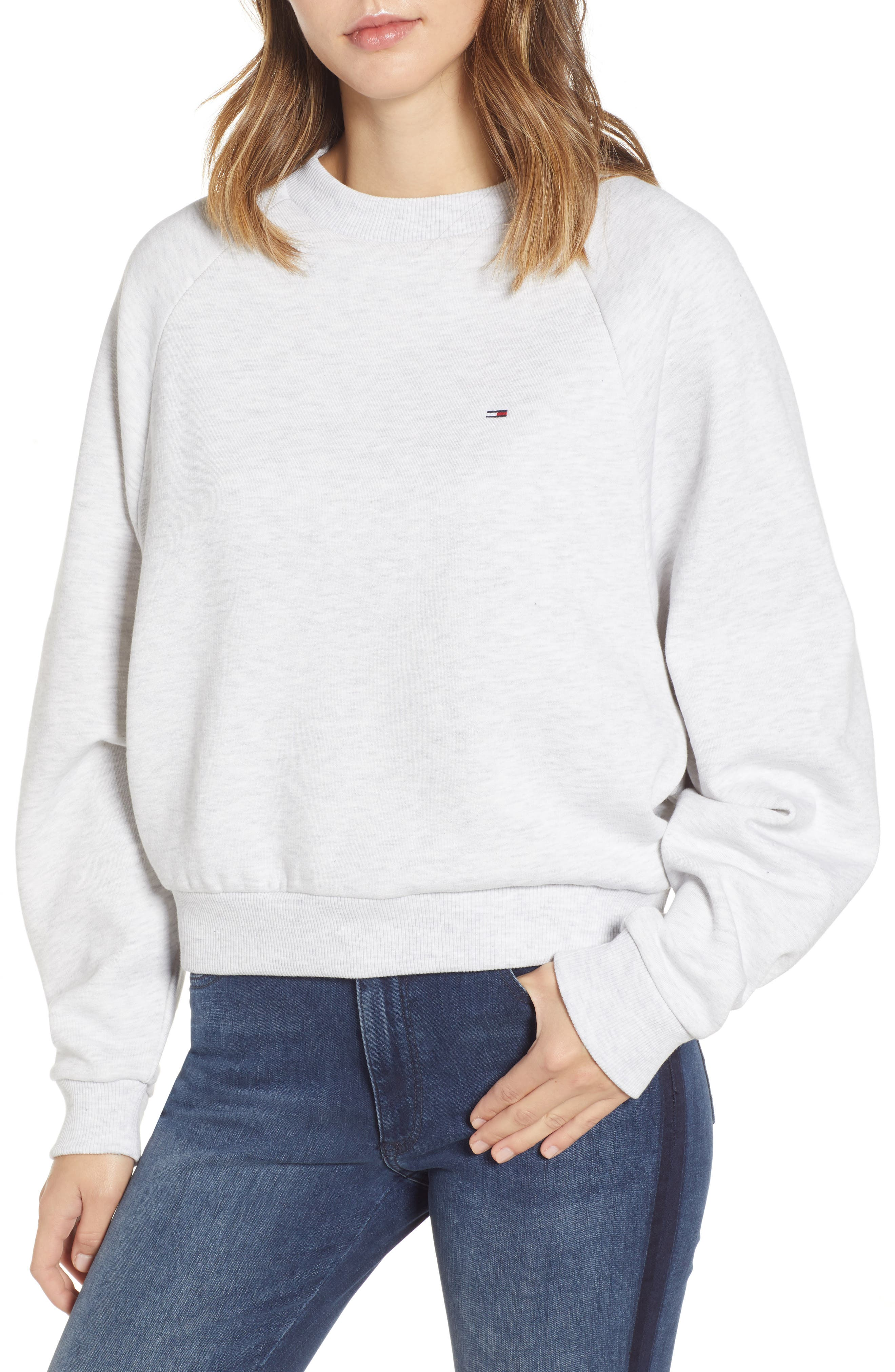 TJW Raglan Sweatshirt,                         Main,                         color, PALE GREY HEATHER