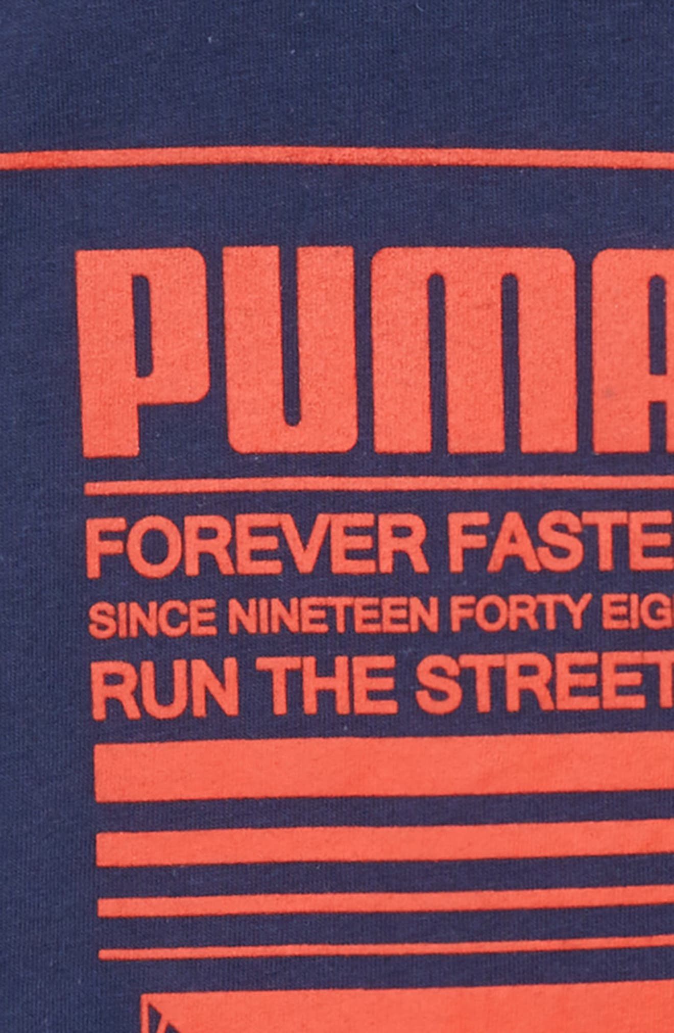PUMA,                             Forever Faster Screenprint T-Shirt,                             Alternate thumbnail 2, color,                             496