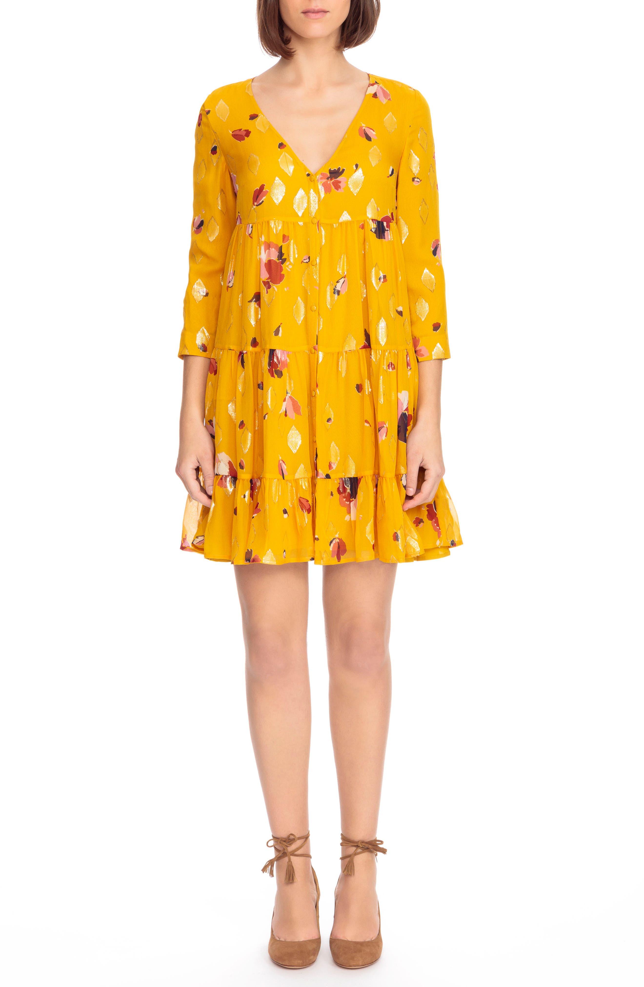 Aure Silk A-Line Dress,                             Main thumbnail 3, color,
