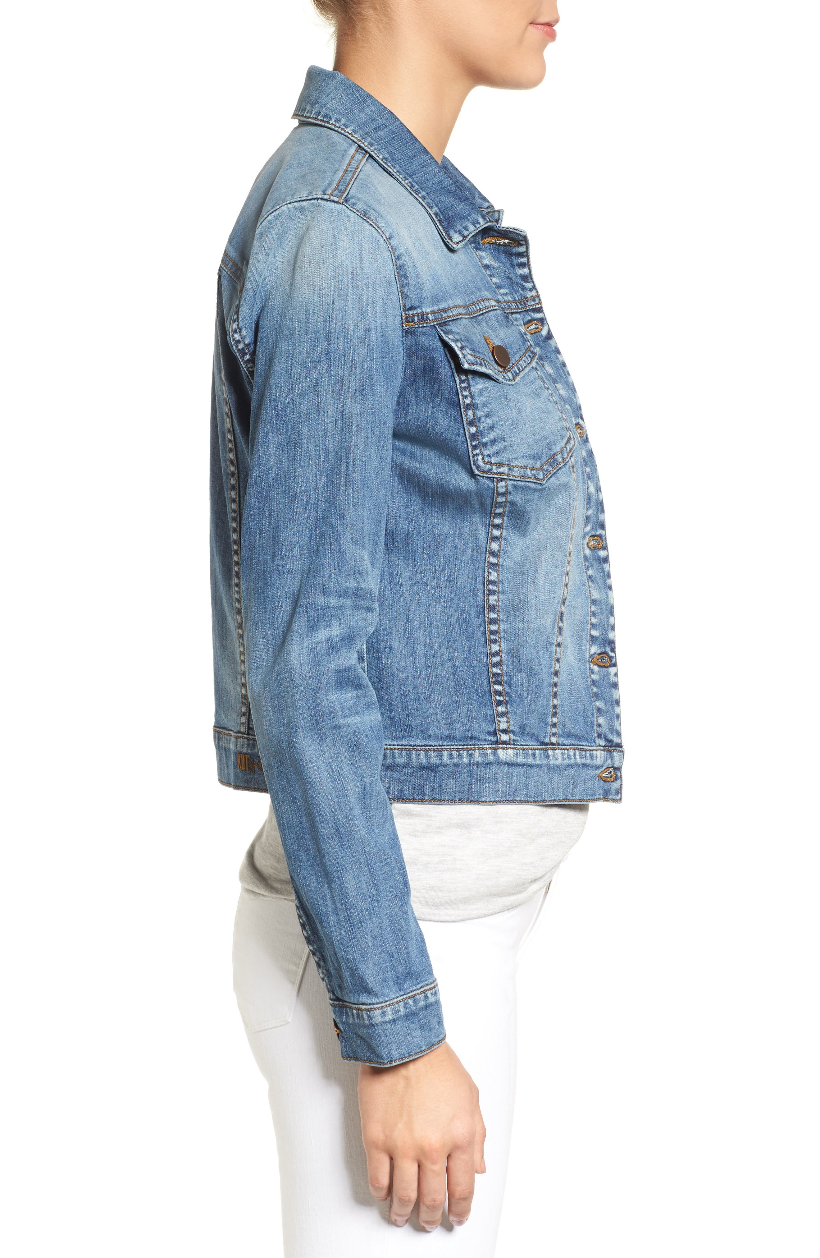 'Helena' Denim Jacket,                             Alternate thumbnail 14, color,