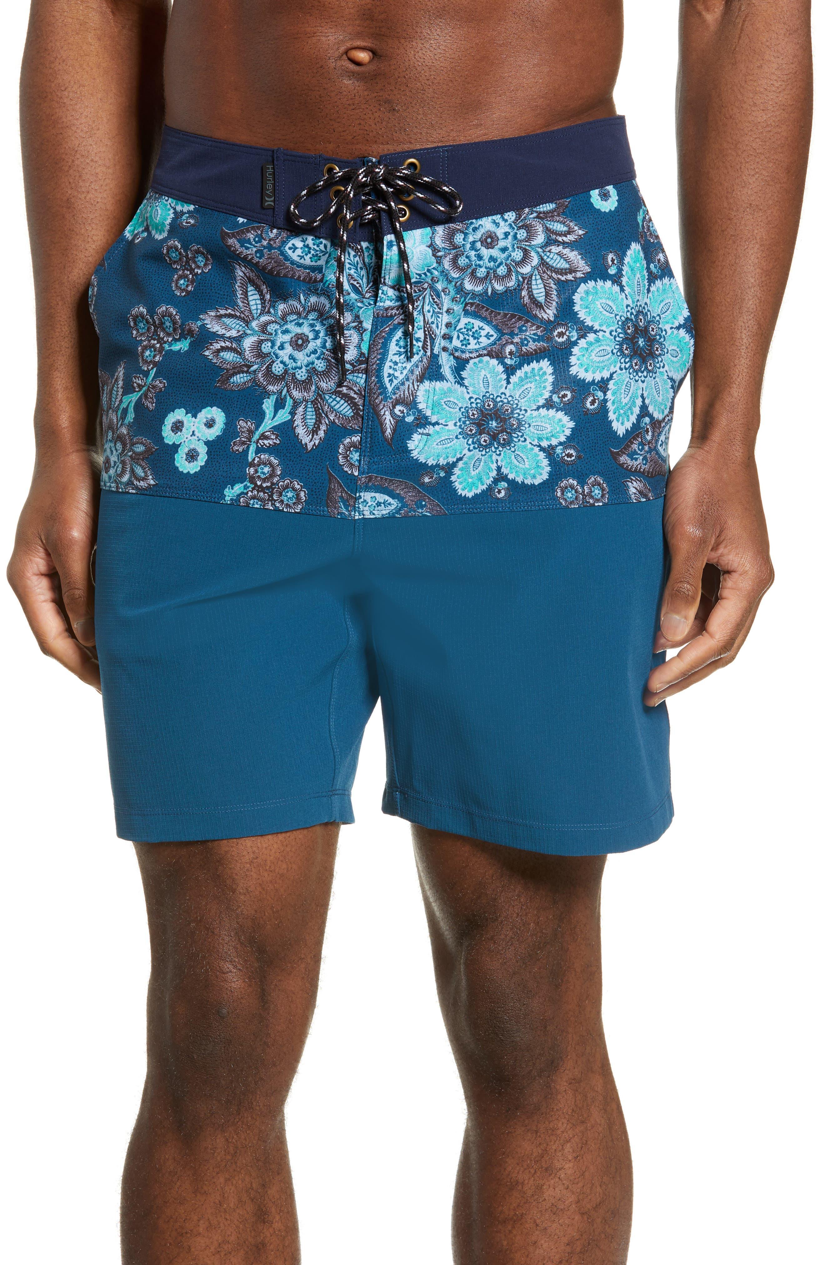 Hurley Phantom Melody Beachside Board Shorts, Blue