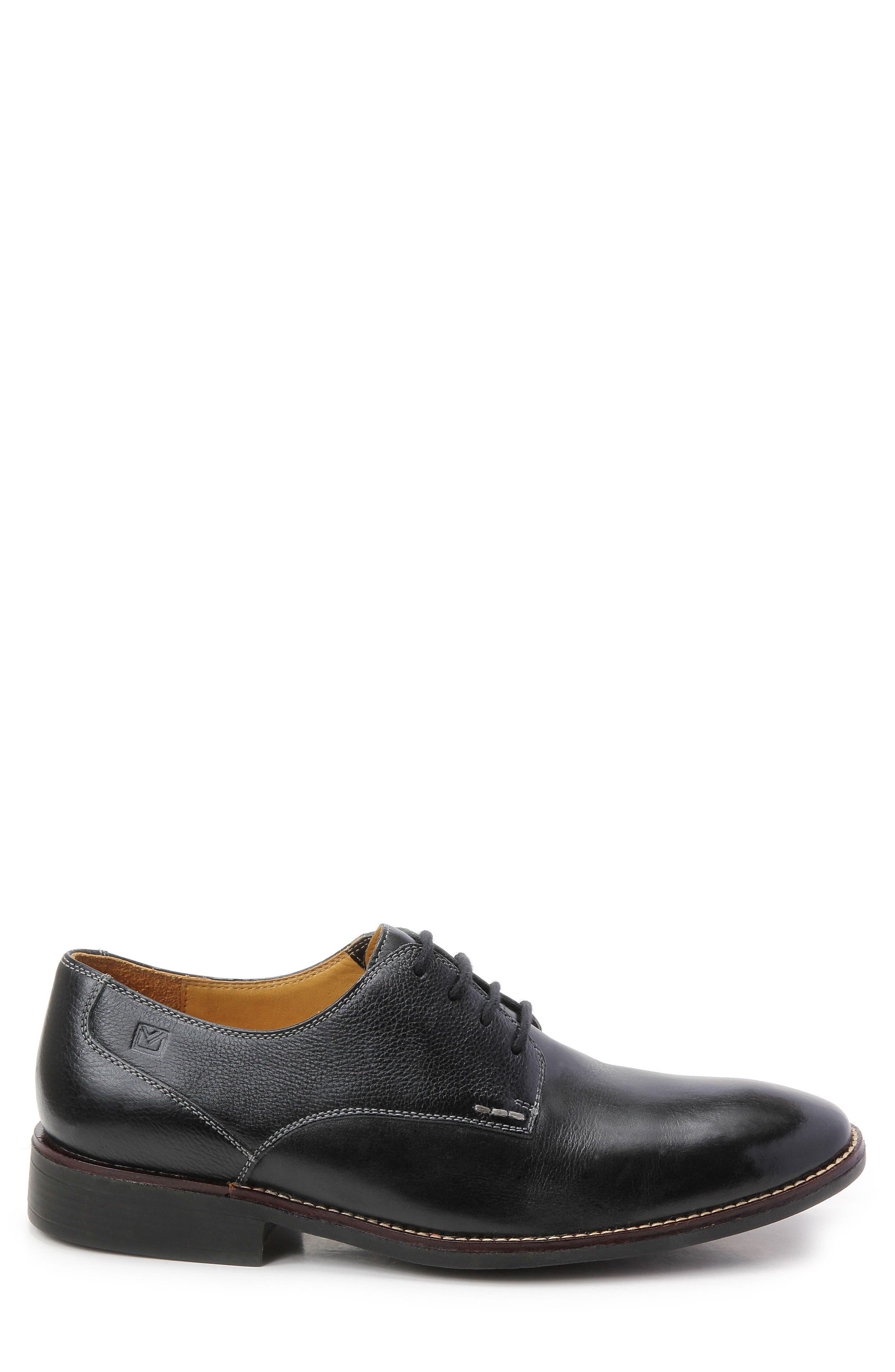 'Olsen' Plain Toe Derby,                             Alternate thumbnail 3, color,                             BLACK LEATHER