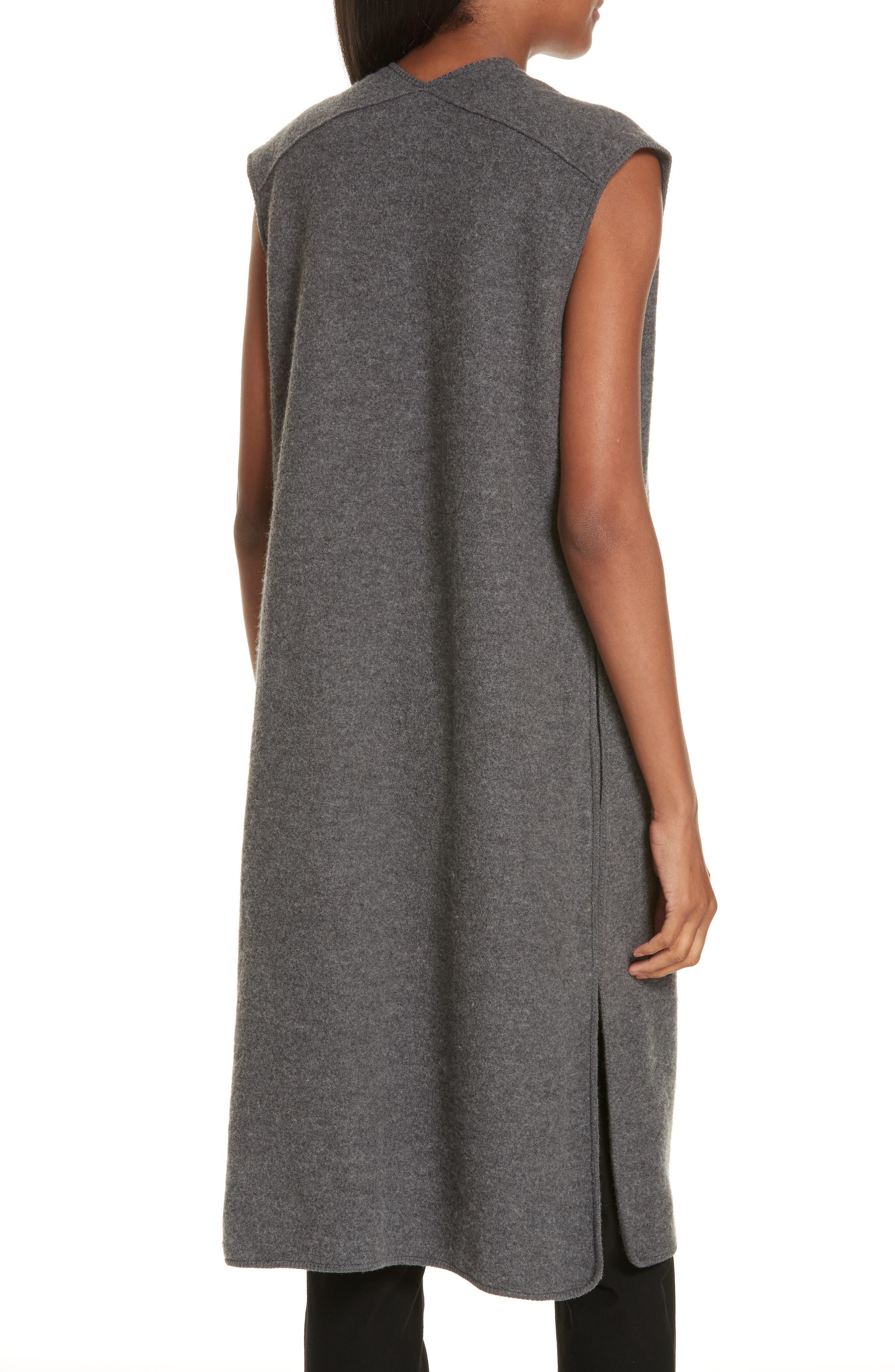 Long Merino Wool Vest,                             Alternate thumbnail 2, color,                             030