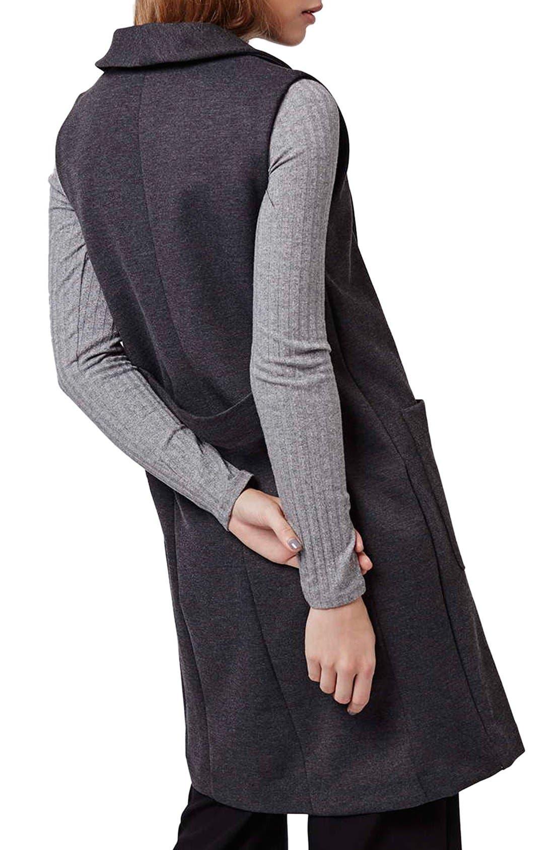 Shawl Collar Longline Vest,                             Alternate thumbnail 4, color,                             021