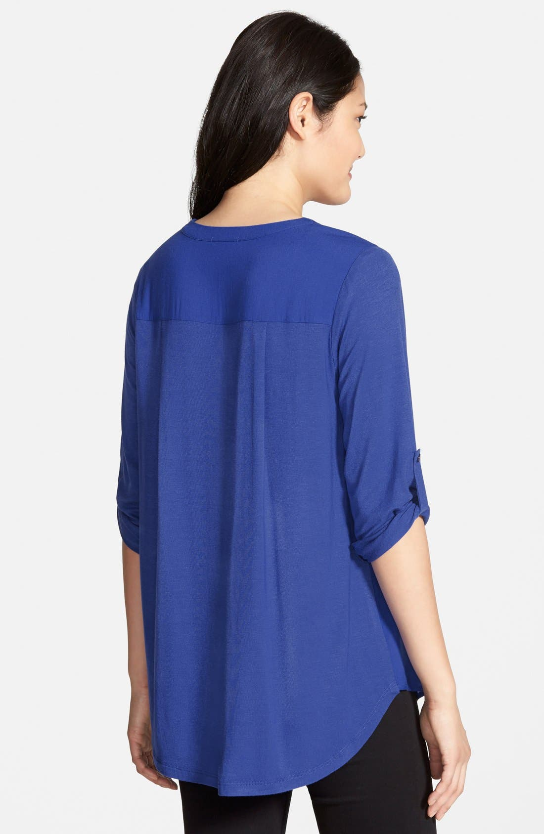 Mixed Media V-Neck Tunic,                             Alternate thumbnail 160, color,