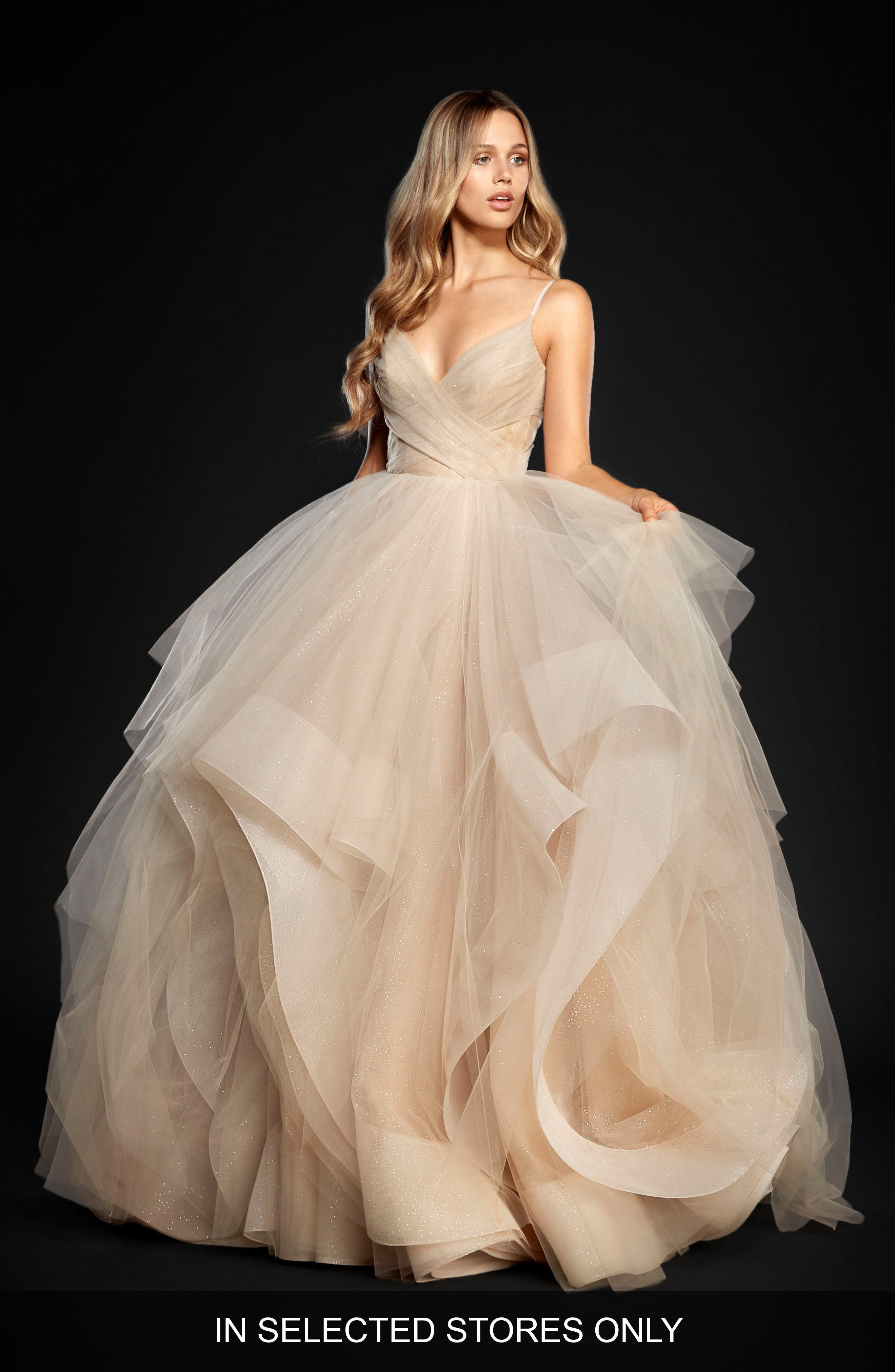 Chandon Stardust Tulle Ballgown,                             Main thumbnail 1, color,                             MOET