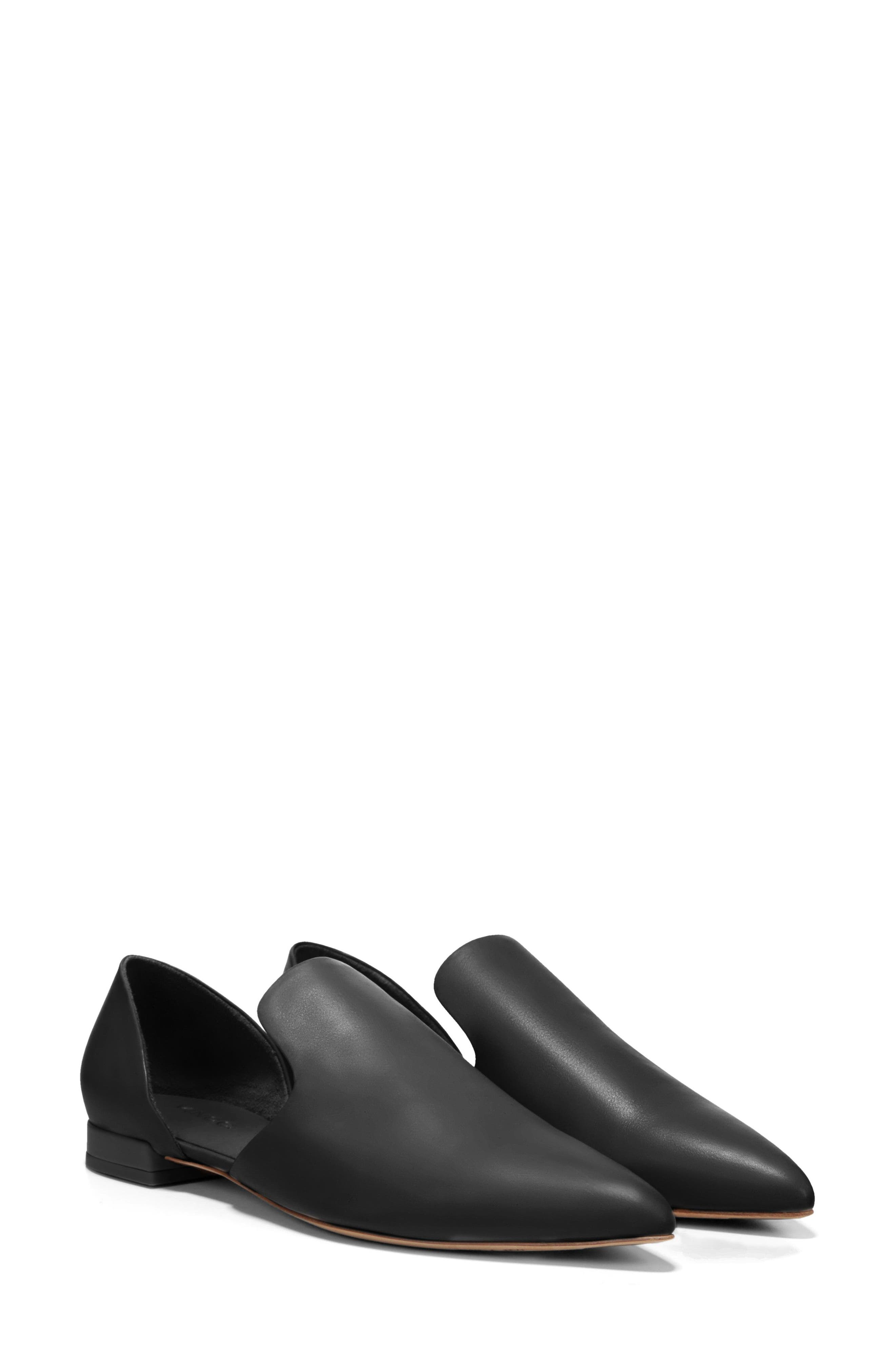 Damris d'Orsay Loafer,                             Alternate thumbnail 6, color,                             BLACK SIVIGLIA CALF