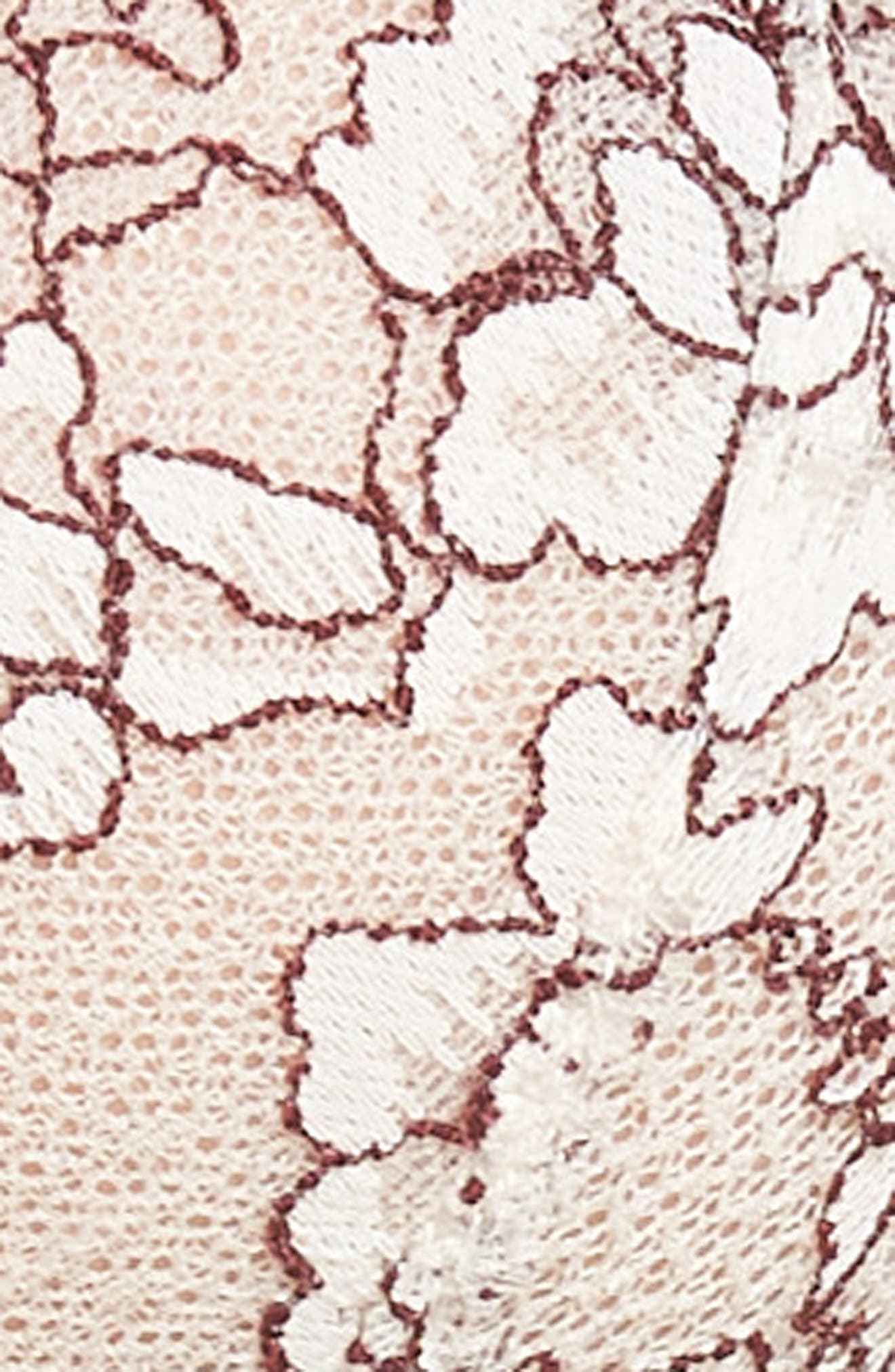 'Minx' Unlined Lace Demi Underwire Bra,                             Alternate thumbnail 6, color,                             MERINGUE/ BRICK