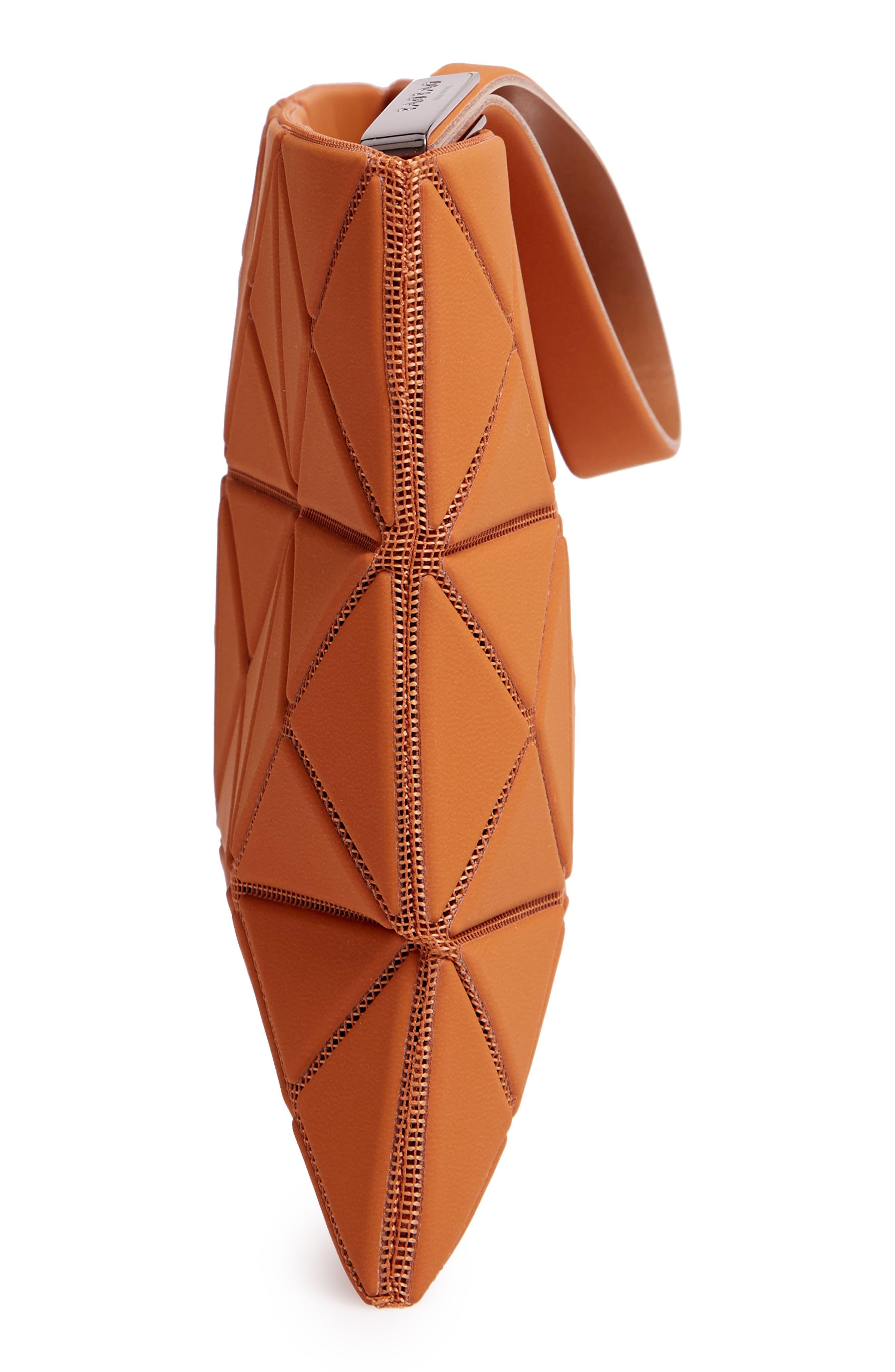 Lucent Faux Leather Wristlet,                             Alternate thumbnail 5, color,                             CAMEL