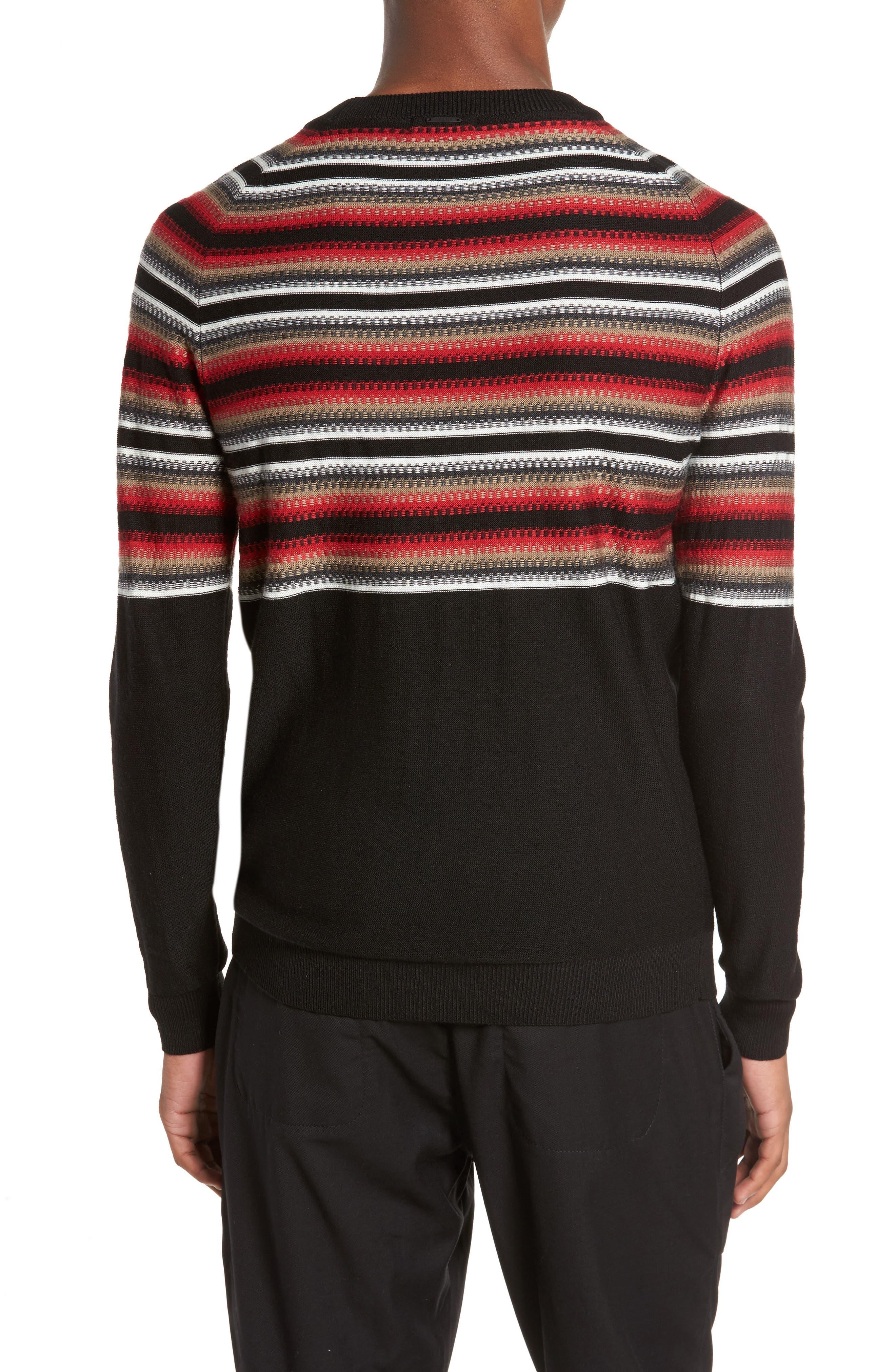 Stripe Sweater,                             Alternate thumbnail 2, color,                             001