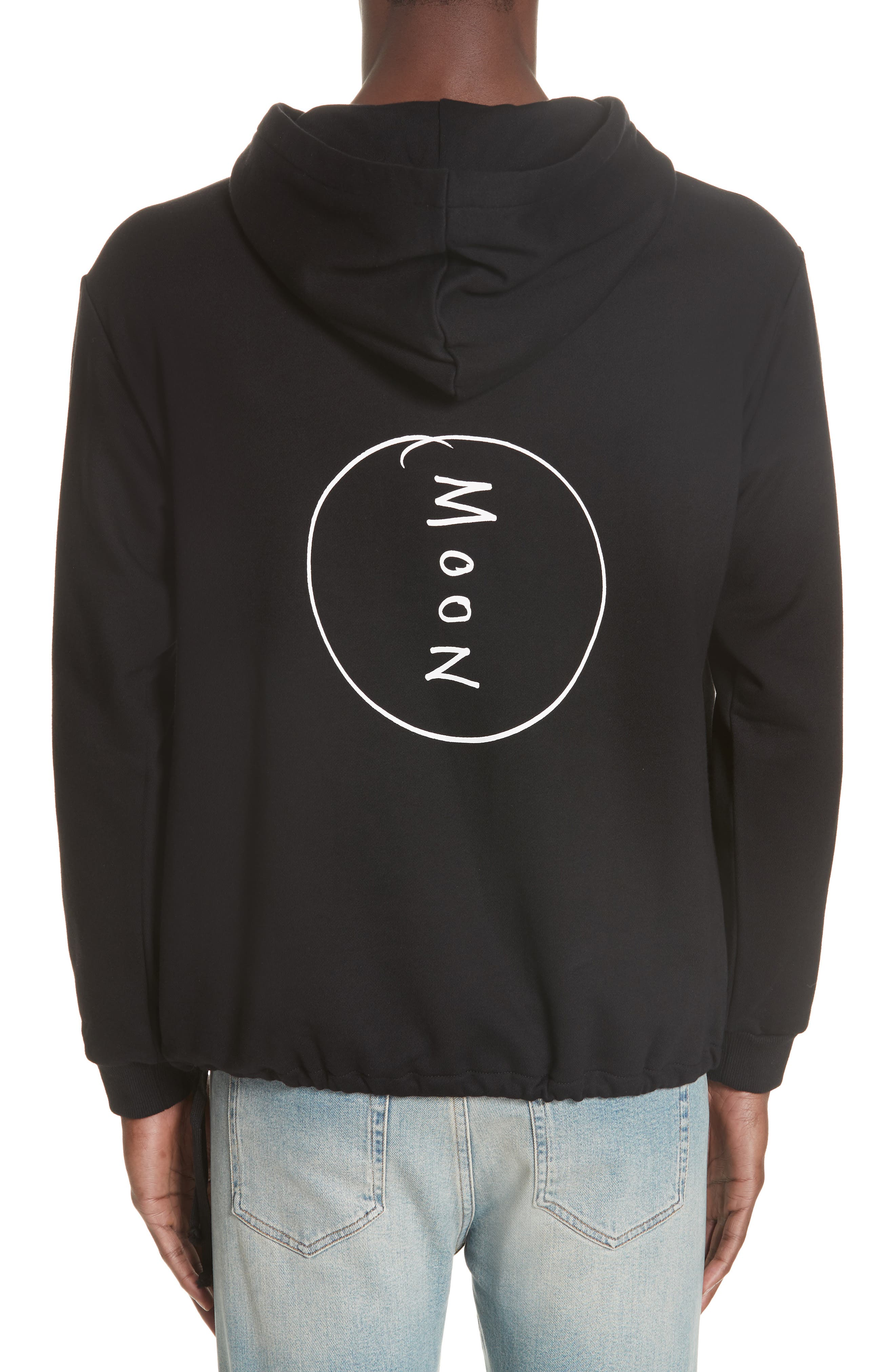 Moon Couch Surf Hoodie,                             Alternate thumbnail 2, color,                             BLACK
