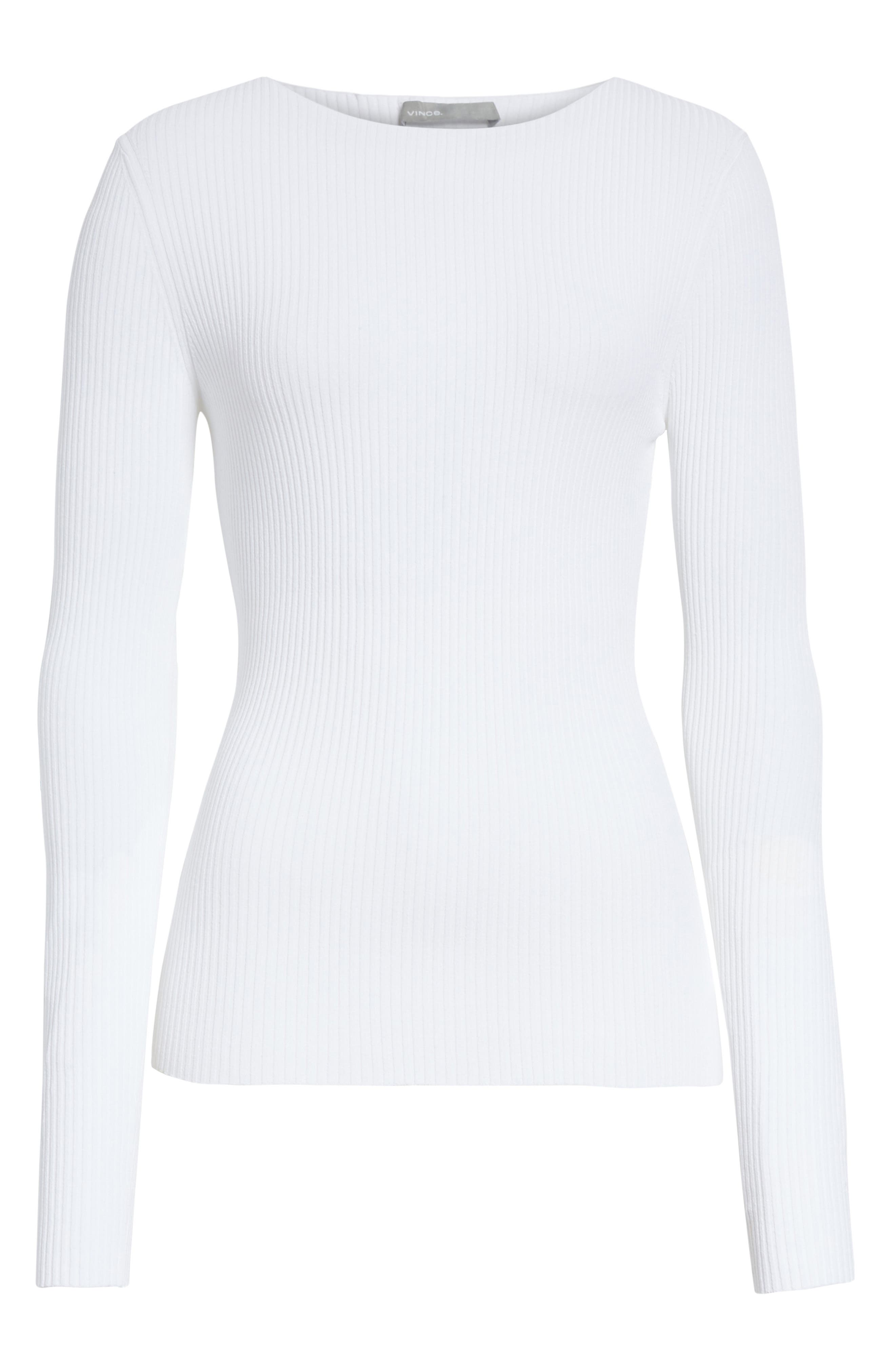 Boat Neck Ribbed Top,                             Alternate thumbnail 12, color,
