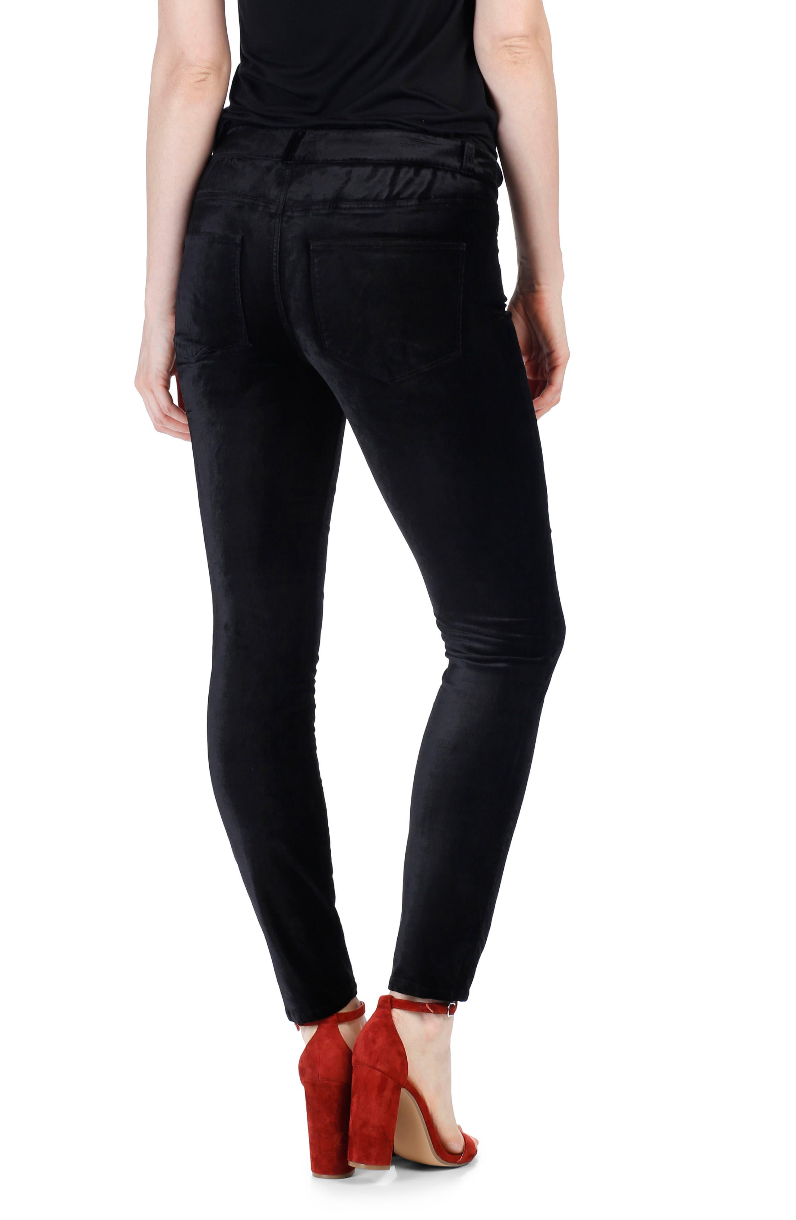 Verdugo Velvet Ankle Skinny Pants,                             Alternate thumbnail 3, color,                             001