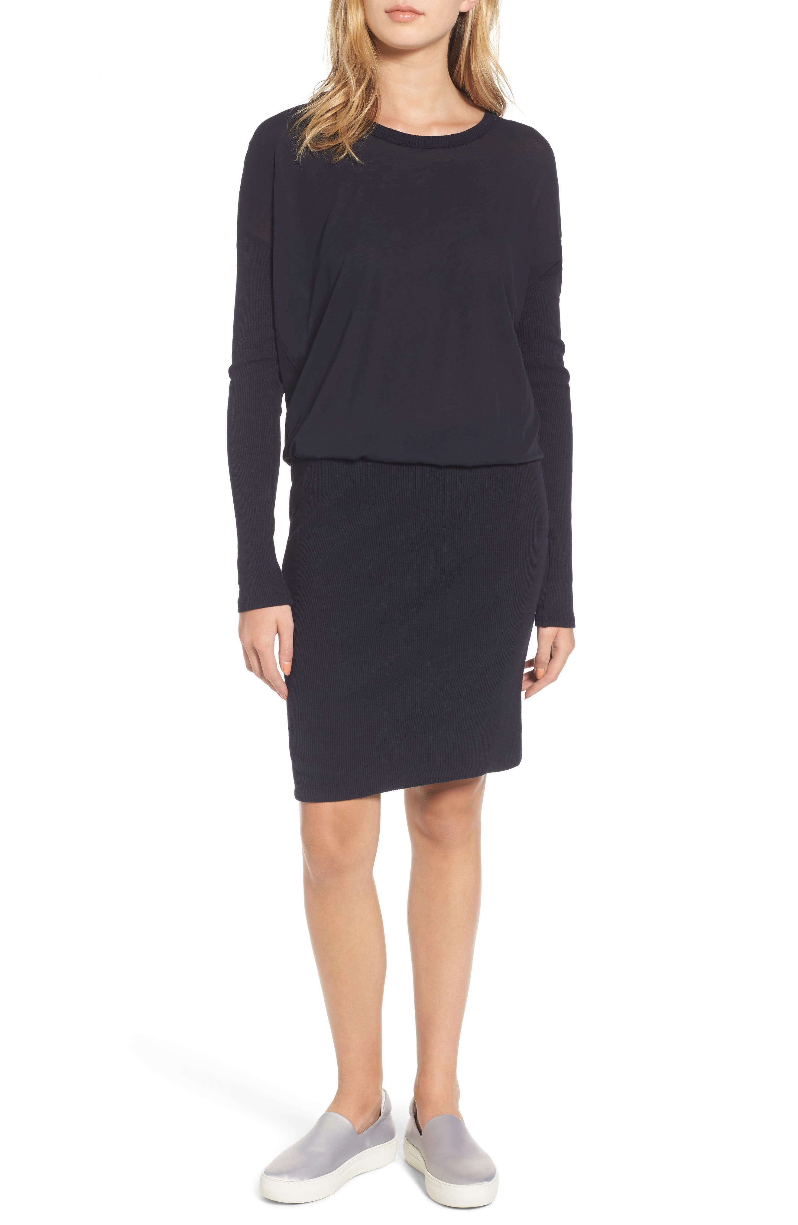 Blouson T-Shirt Dress,                         Main,                         color, 415