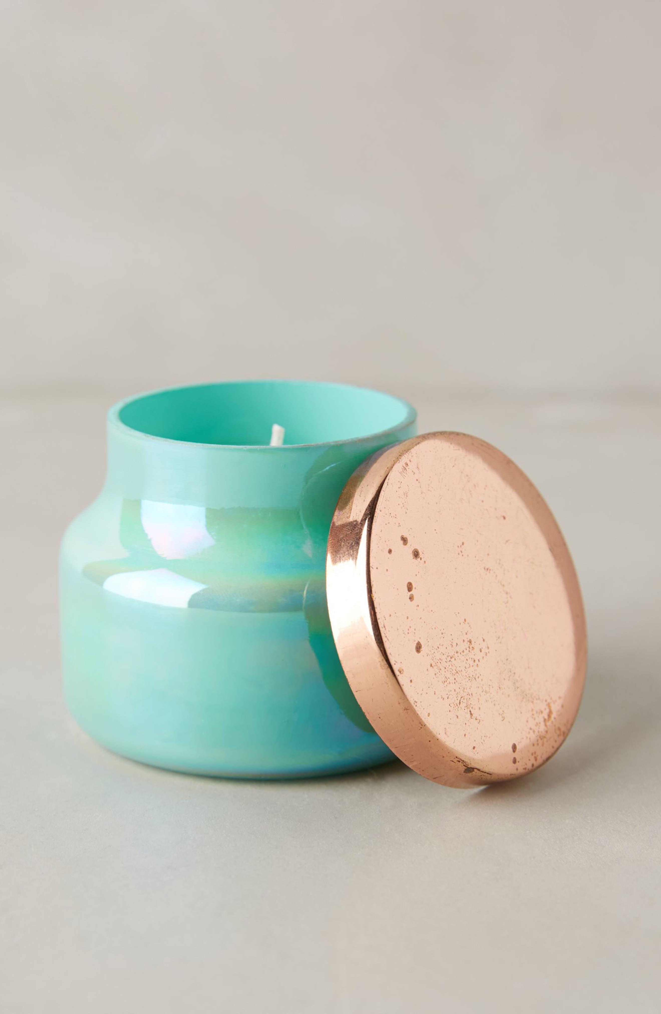 Mini Turquoise Opal Jar Candle, Main, color, LOLA BLOSSOM
