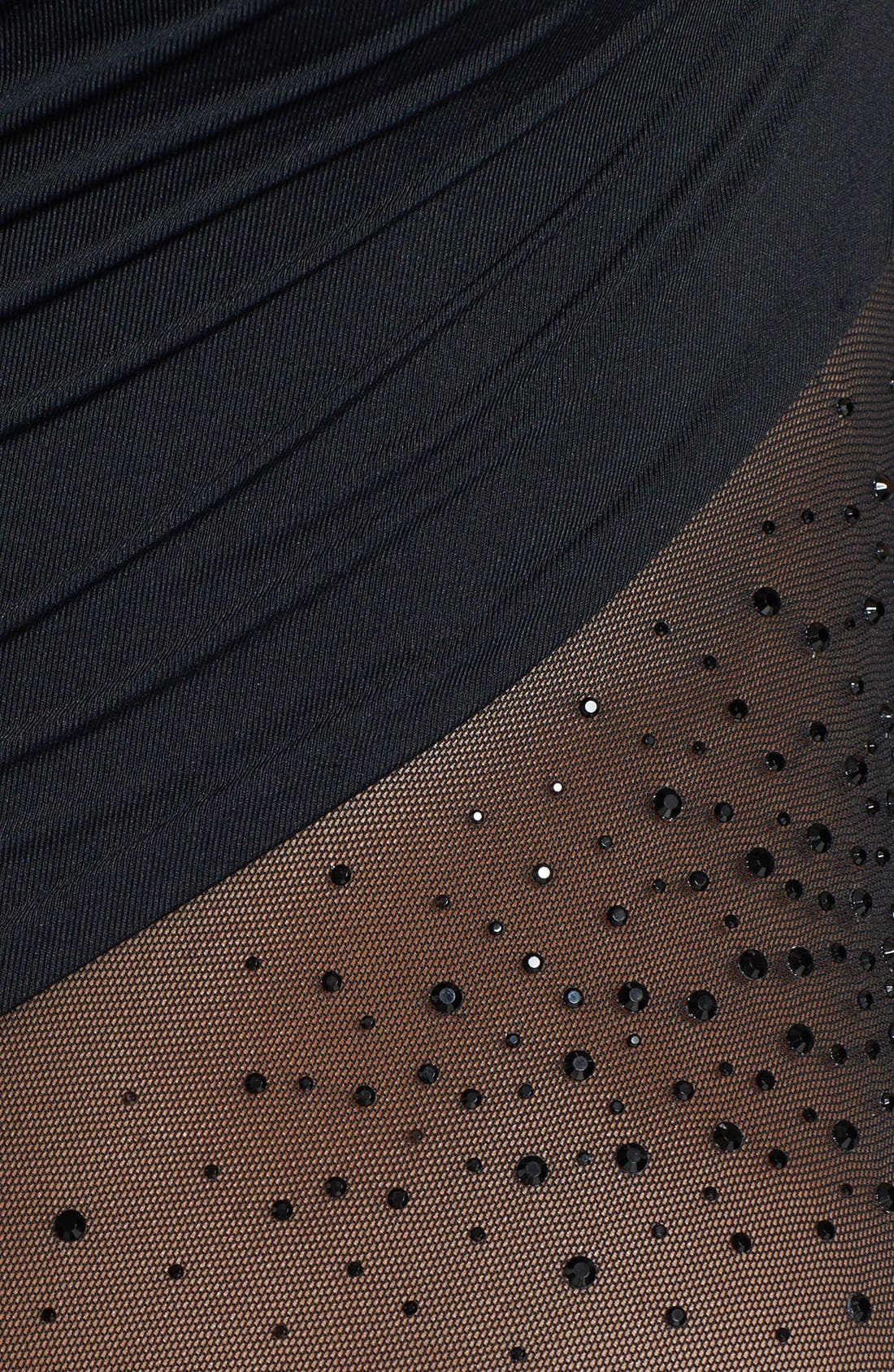 Carmen Marc Valvo 'Exotic Illusion' Rhinestone One-Piece Swimsuit,                             Alternate thumbnail 3, color,                             002