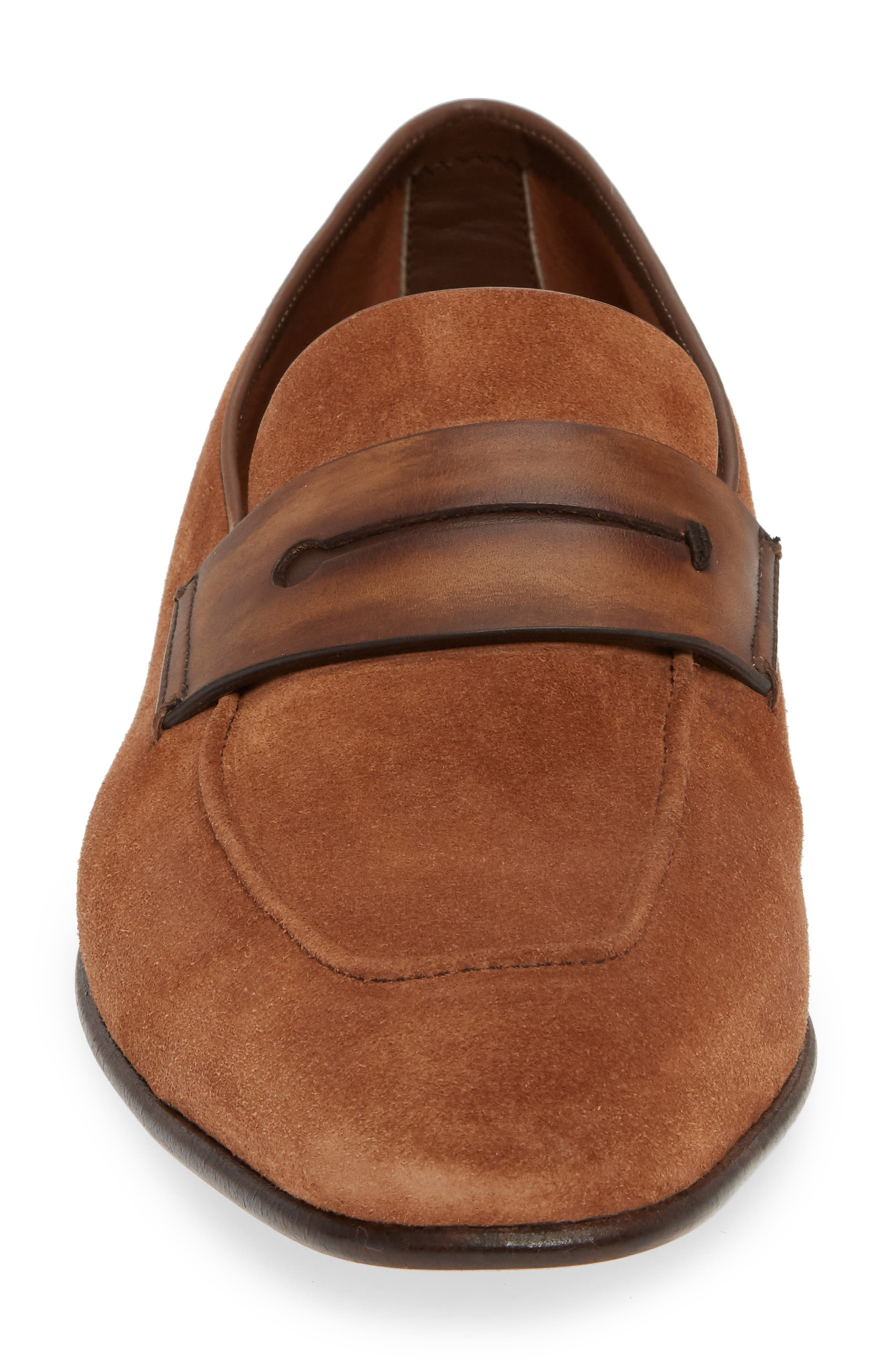 Penny Loafer,                             Alternate thumbnail 4, color,                             BROWN/BROWN