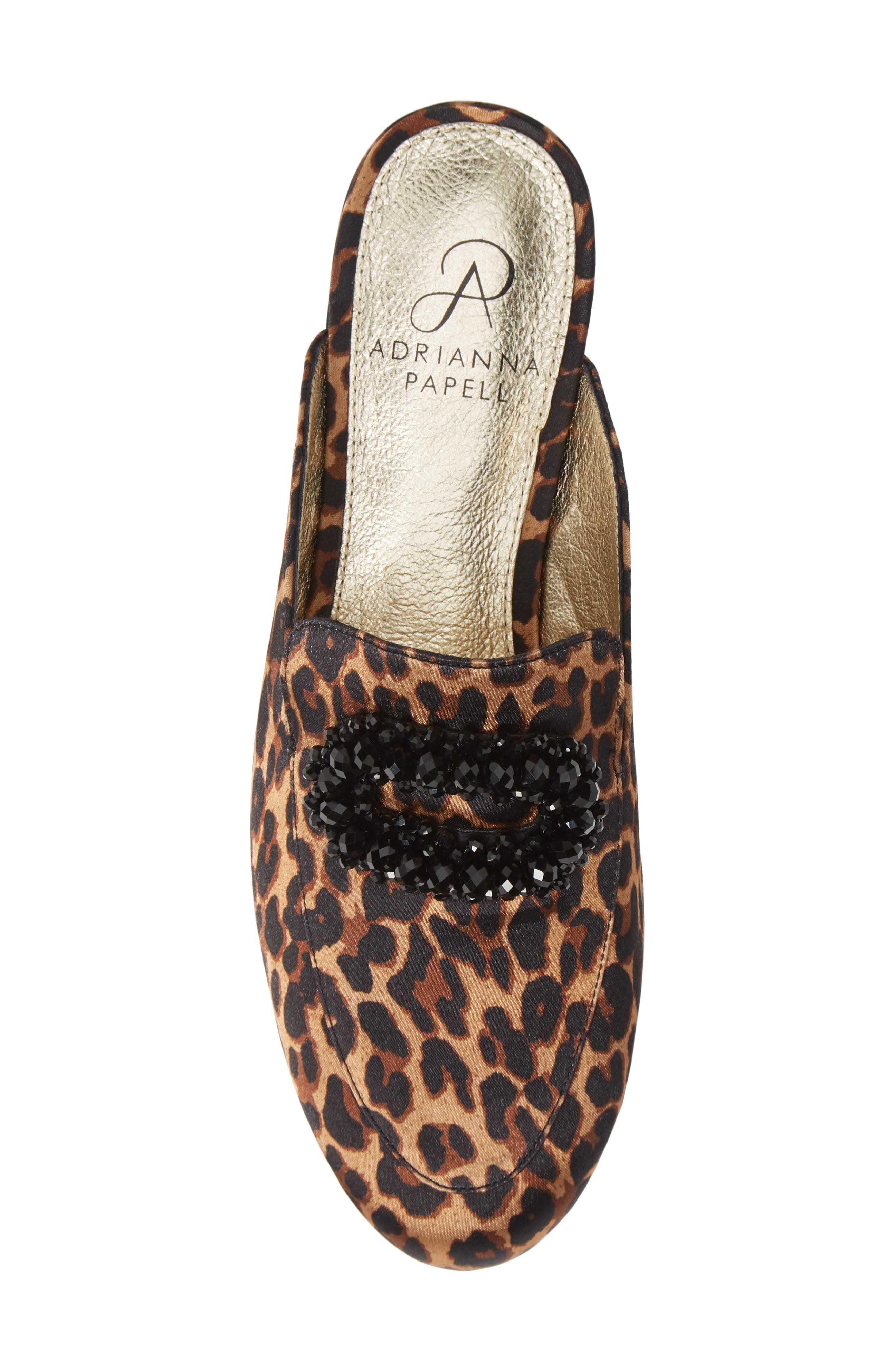 ADRIANNA PAPELL,                             Becky Embellished Mule,                             Alternate thumbnail 5, color,                             LEOPARD