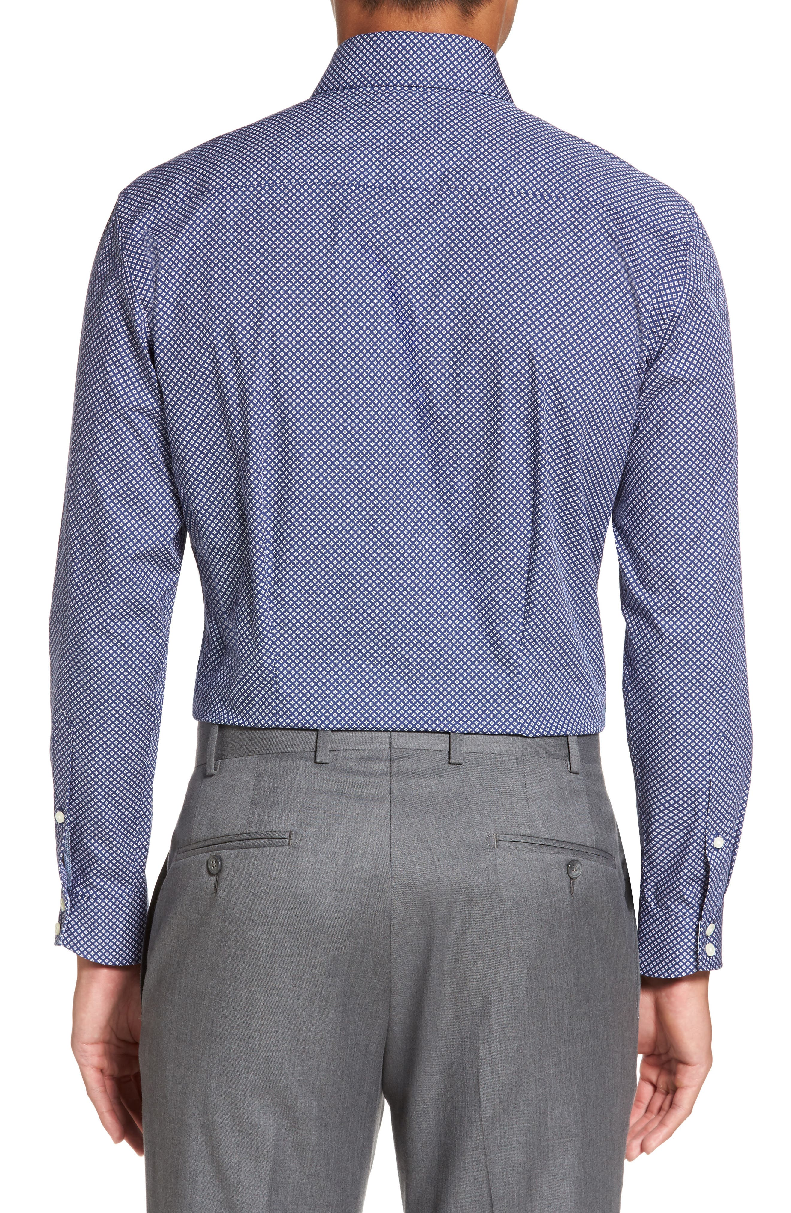 Agra Trim Fit Geometric Dress Shirt,                             Alternate thumbnail 2, color,                             410