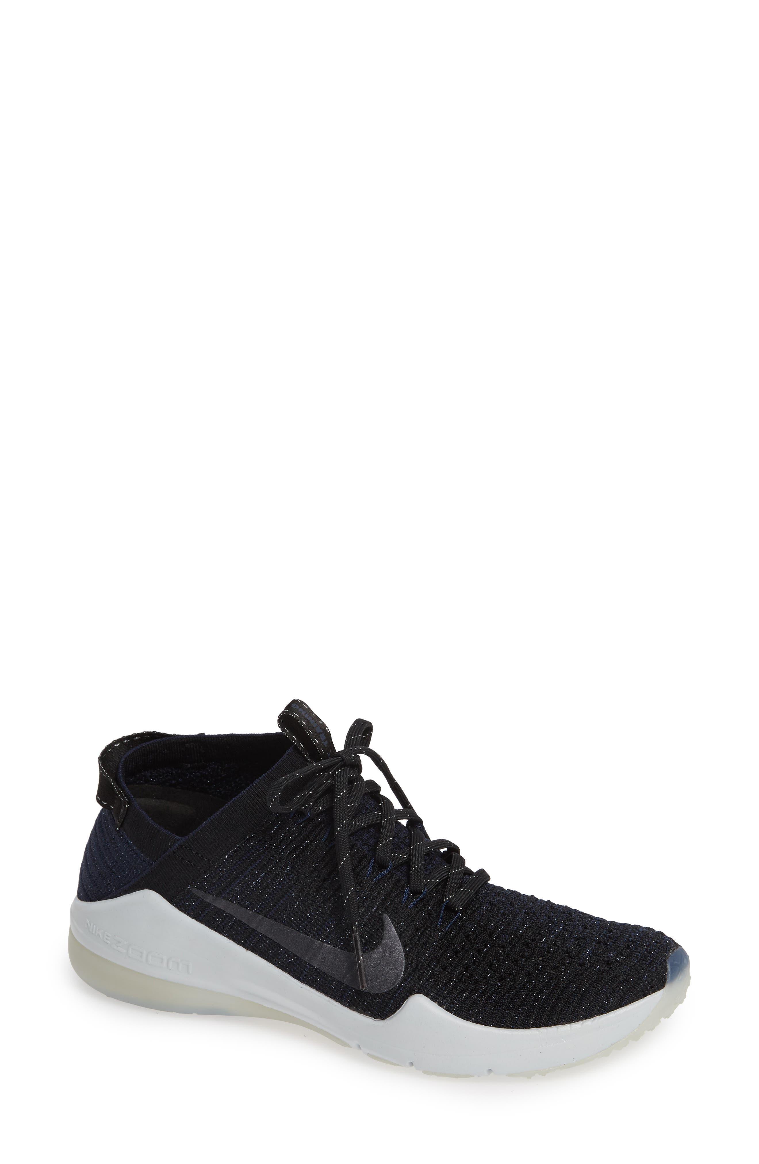 Air Zoom Fearless Flyknit 2 Metallic Sneakers in Black/ Metallic Navy- Navy