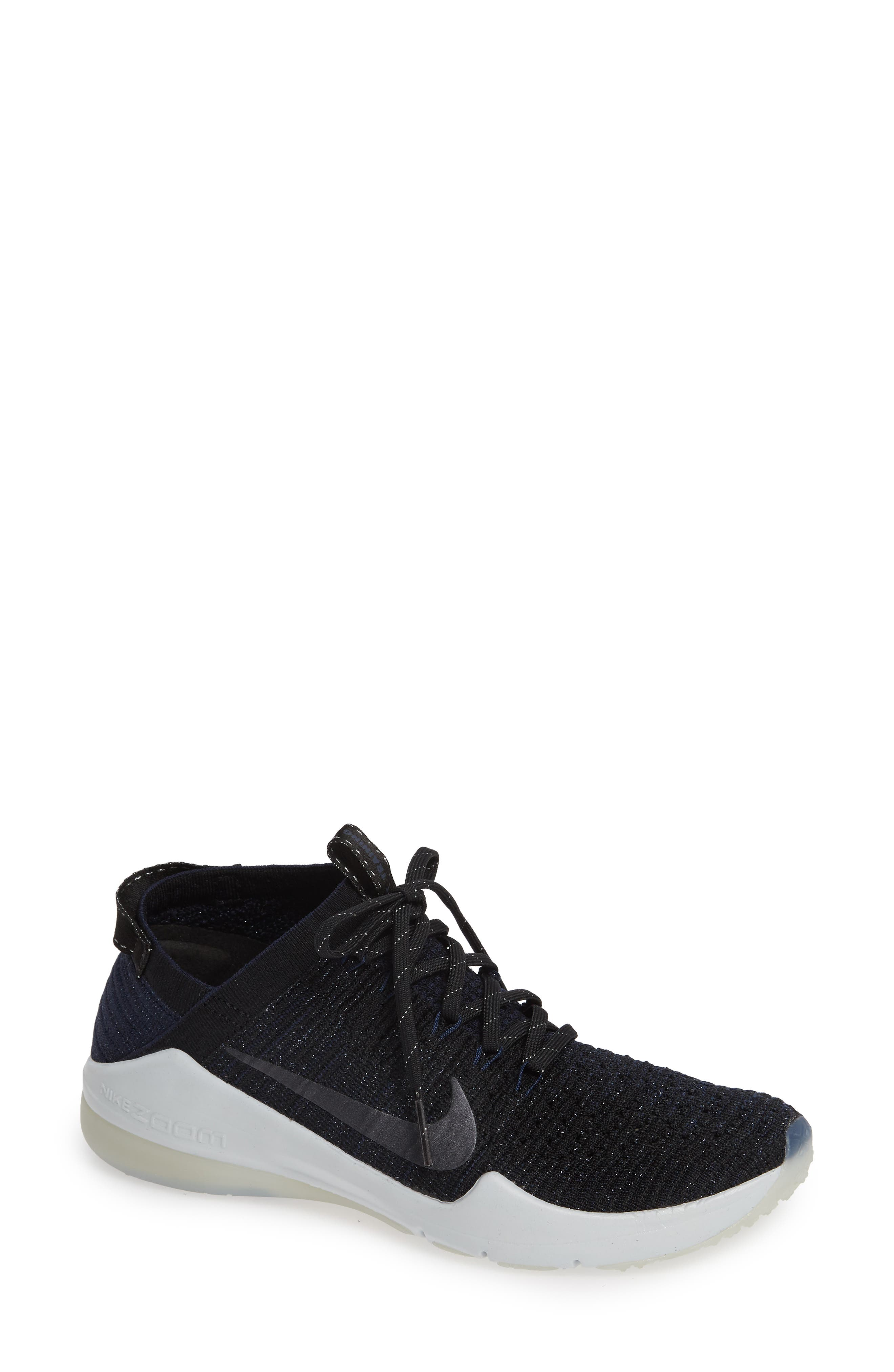 Air Zoom Fearless Flyknit 2 Training Sneaker,                             Main thumbnail 1, color,                             BLACK/ METALLIC NAVY- NAVY