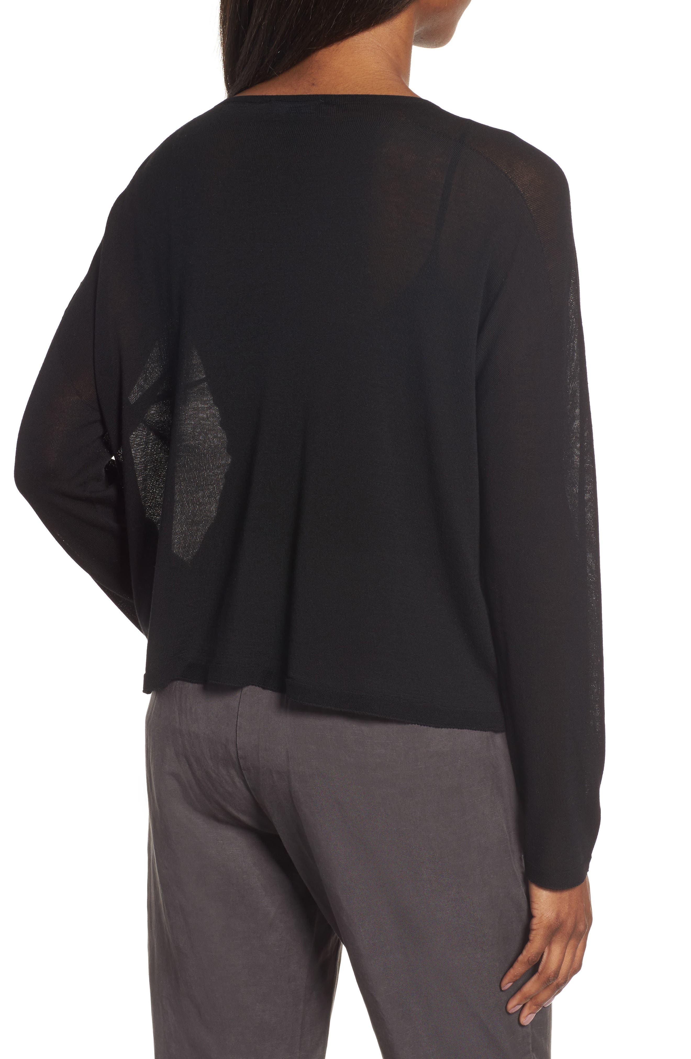 Tencel<sup>®</sup> Knit Dolman Top,                             Alternate thumbnail 2, color,                             001