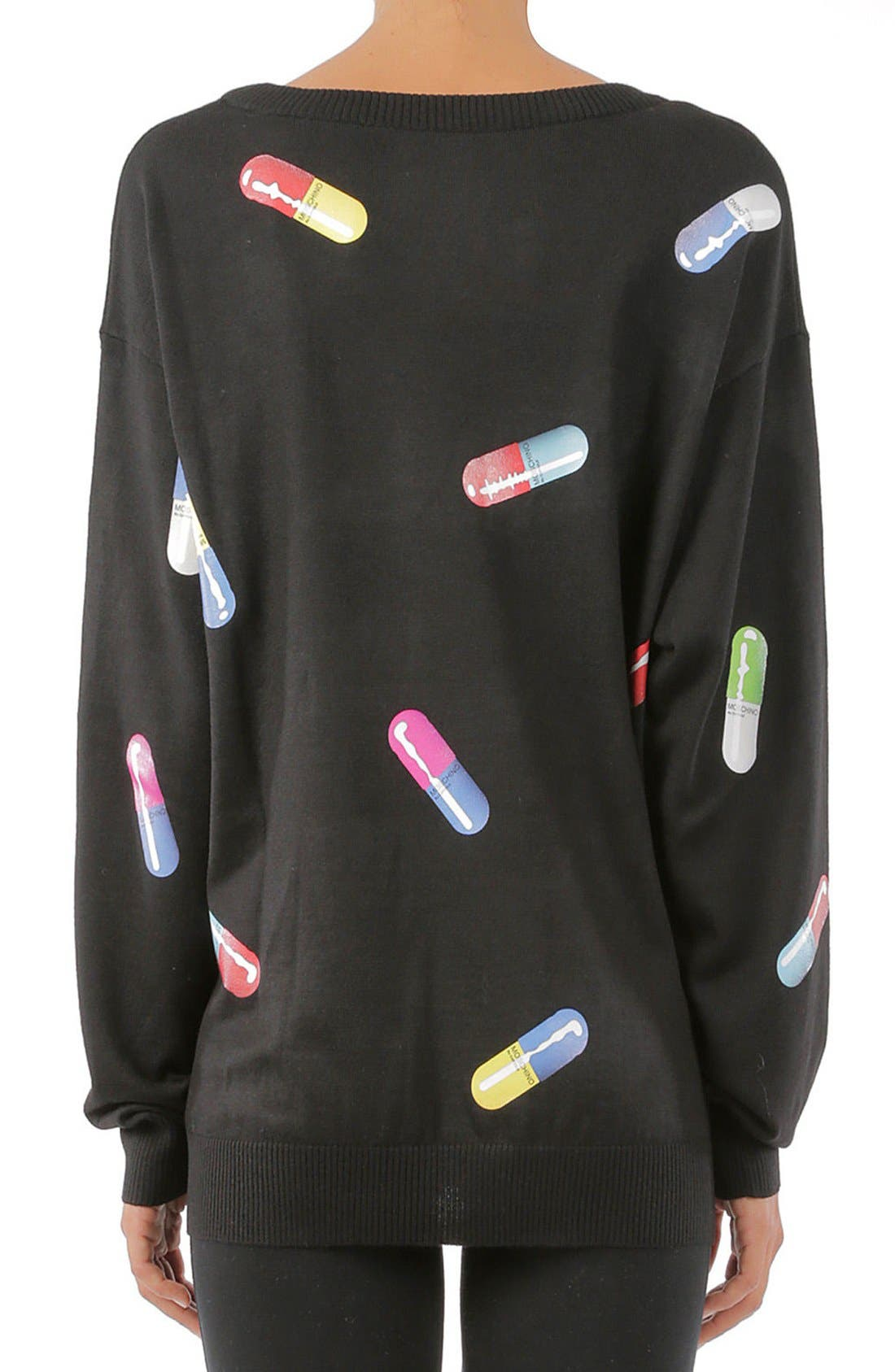 Pill Print Sweater,                             Alternate thumbnail 3, color,                             015