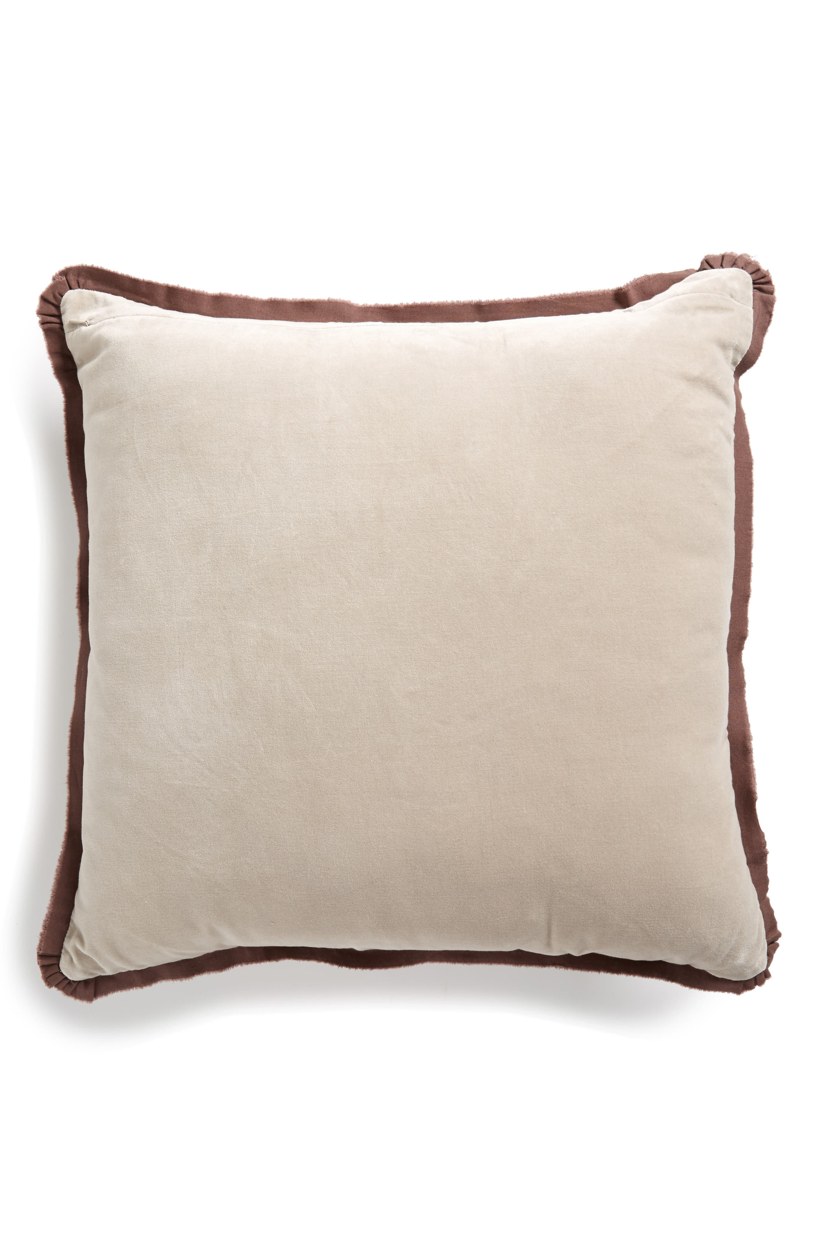Sun Print Square Accent Pillow,                             Alternate thumbnail 2, color,                             BROWN ROSE