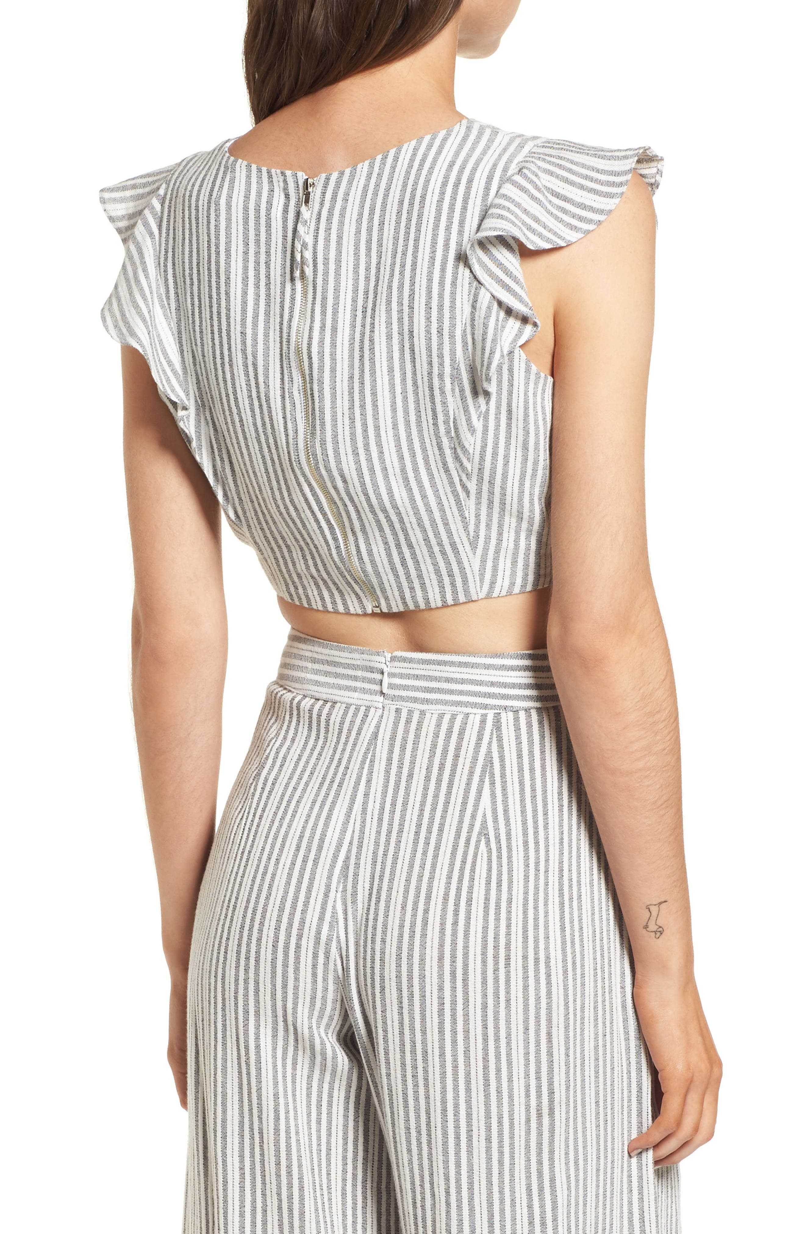 Vacay Flutter Sleeve Crop Top,                             Alternate thumbnail 2, color,                             061