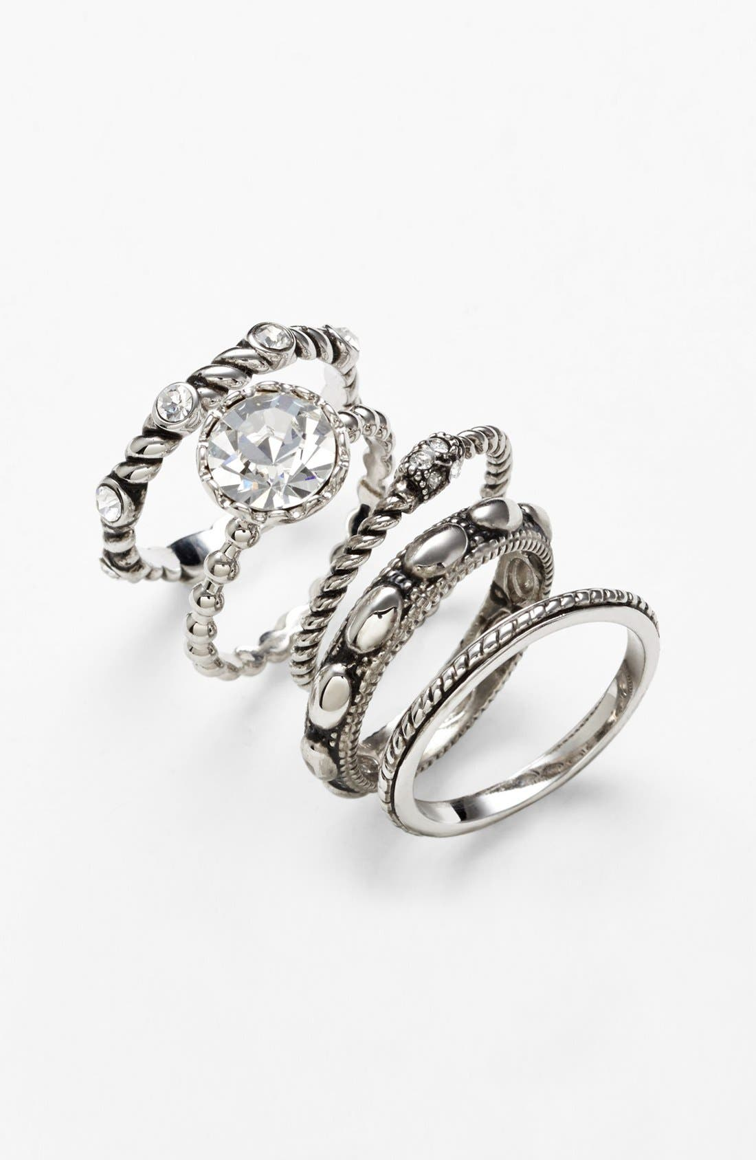 Ariella Collection Cocktail Stack Rings,                             Alternate thumbnail 2, color,                             040
