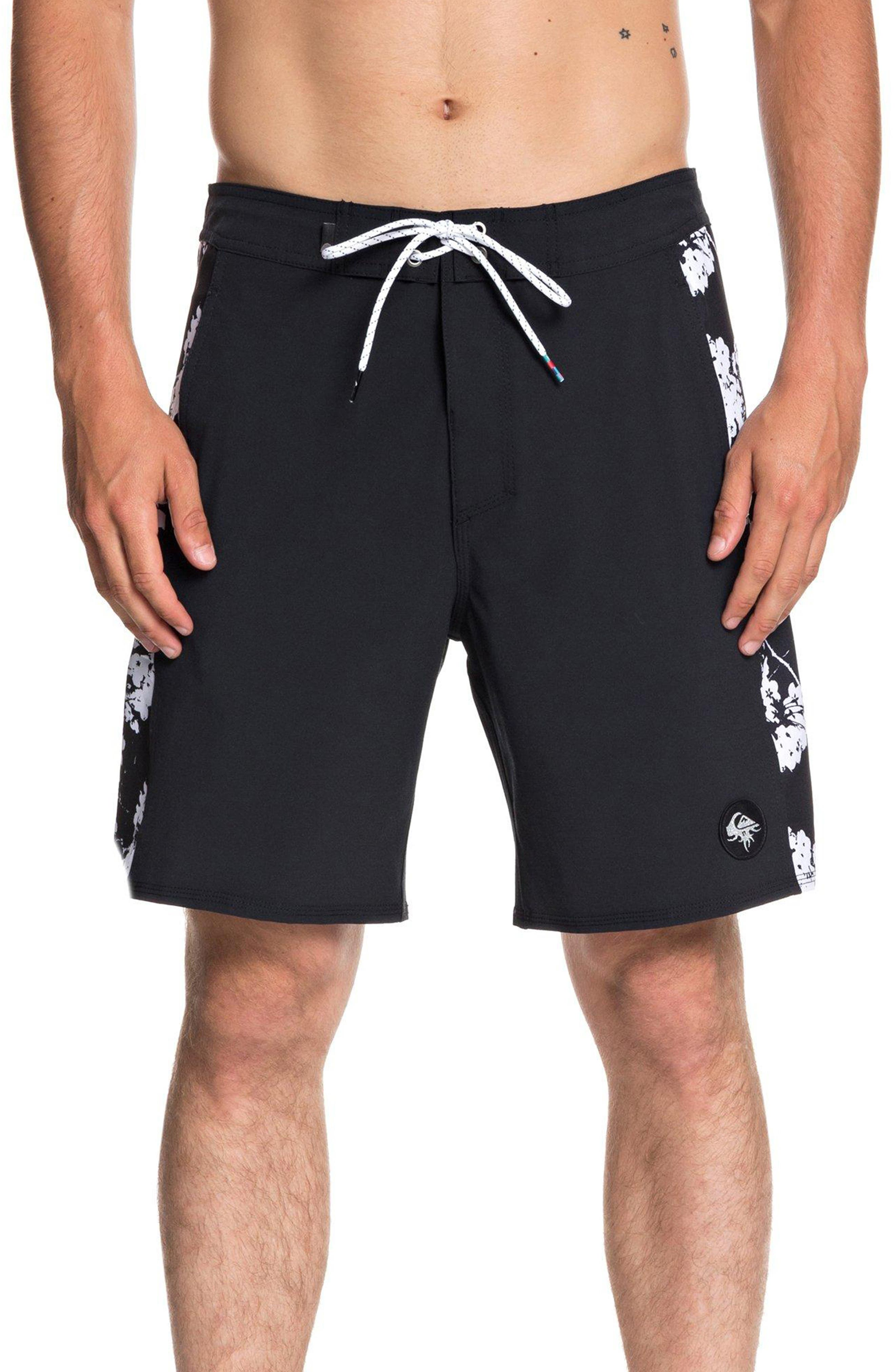 Arch Beach Shorts, Main, color, BLACK