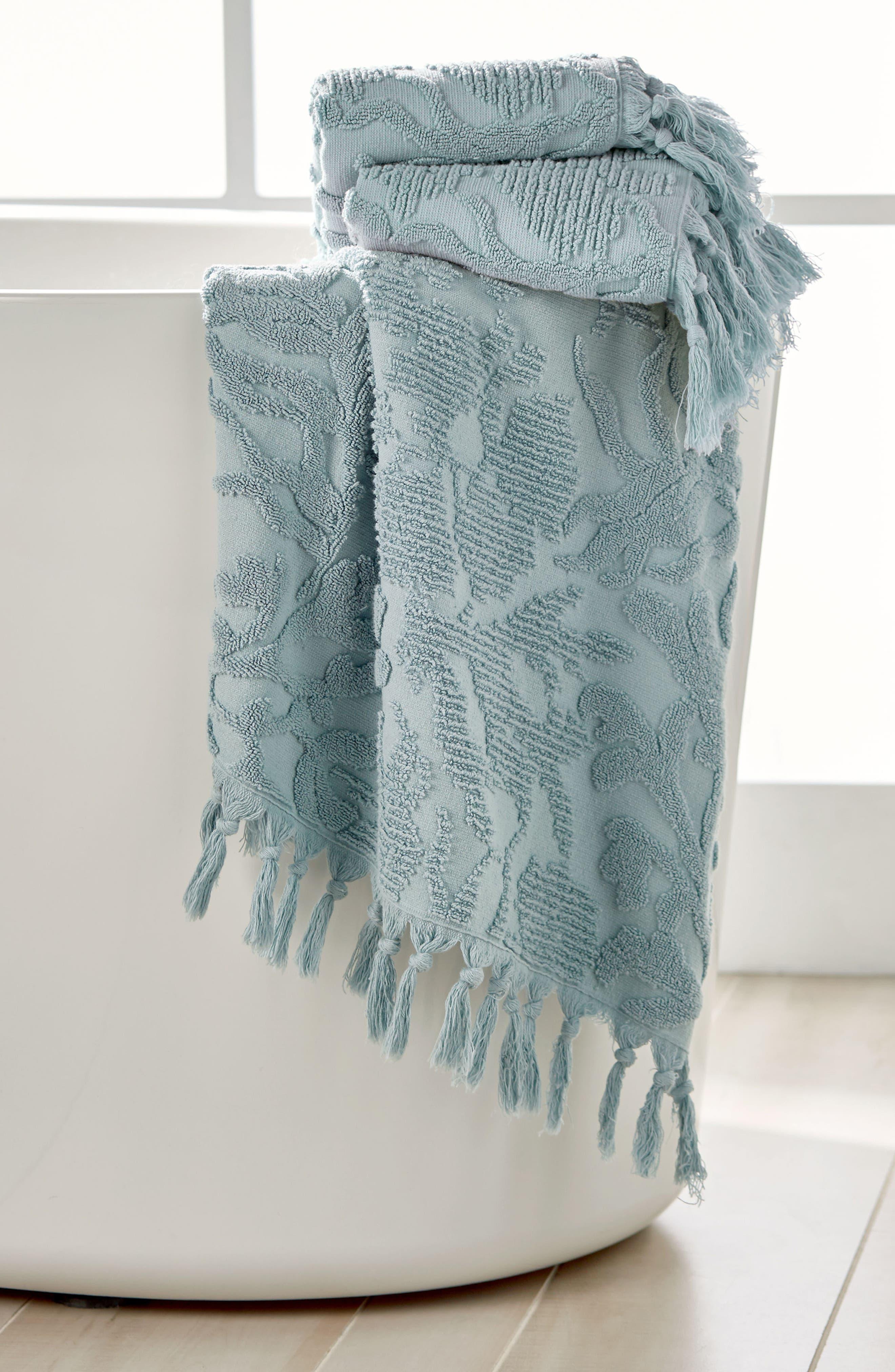 Ocean Reef Bath Towel,                             Alternate thumbnail 4, color,                             SEAFOAM