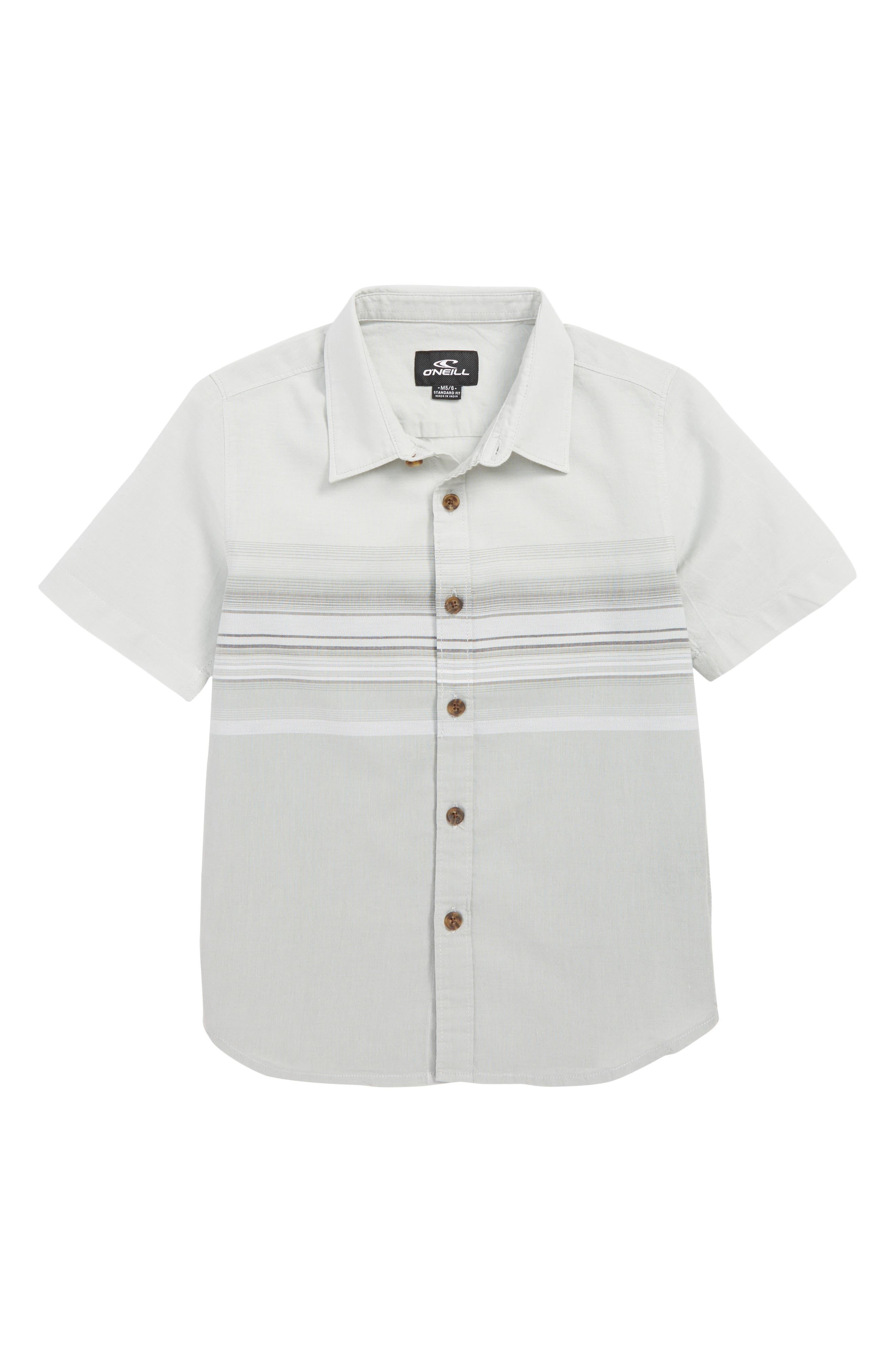 O'NEILL,                             Letting Go Woven Shirt,                             Main thumbnail 1, color,                             LIGHT GREY