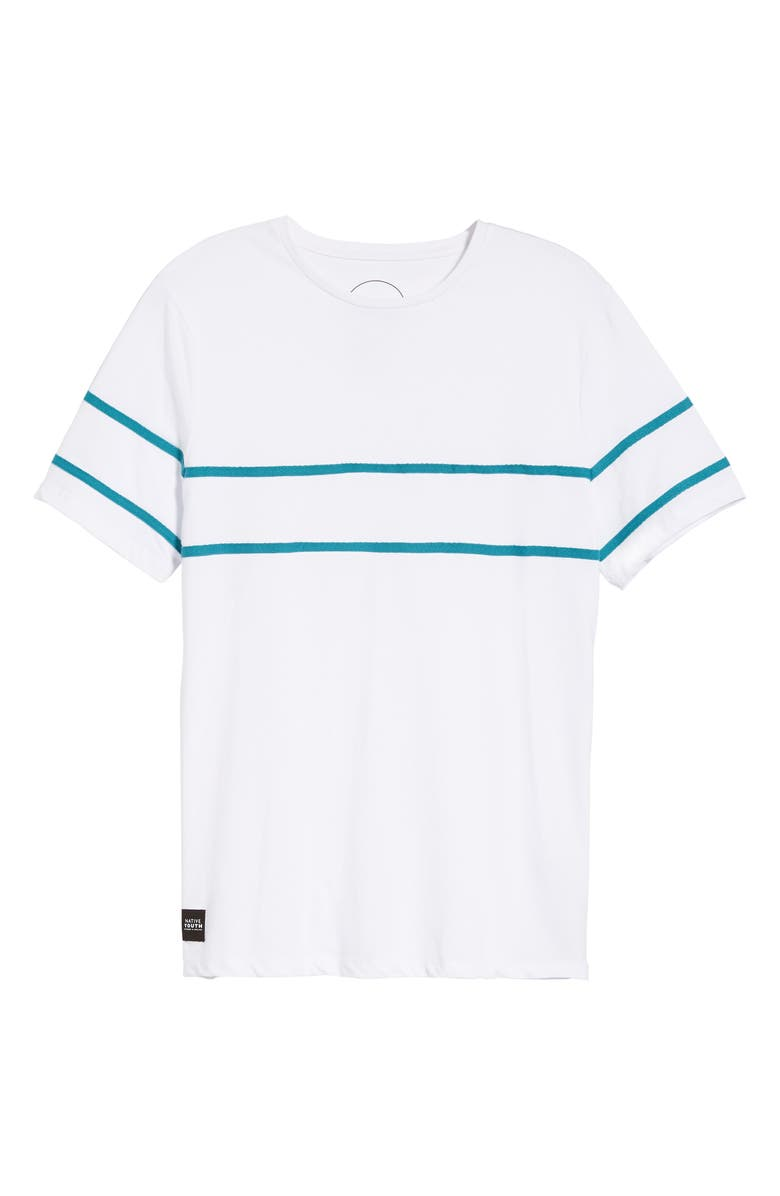 bcad4903c77 Shop Native Youth Herringbone Tape T-Shirt In White
