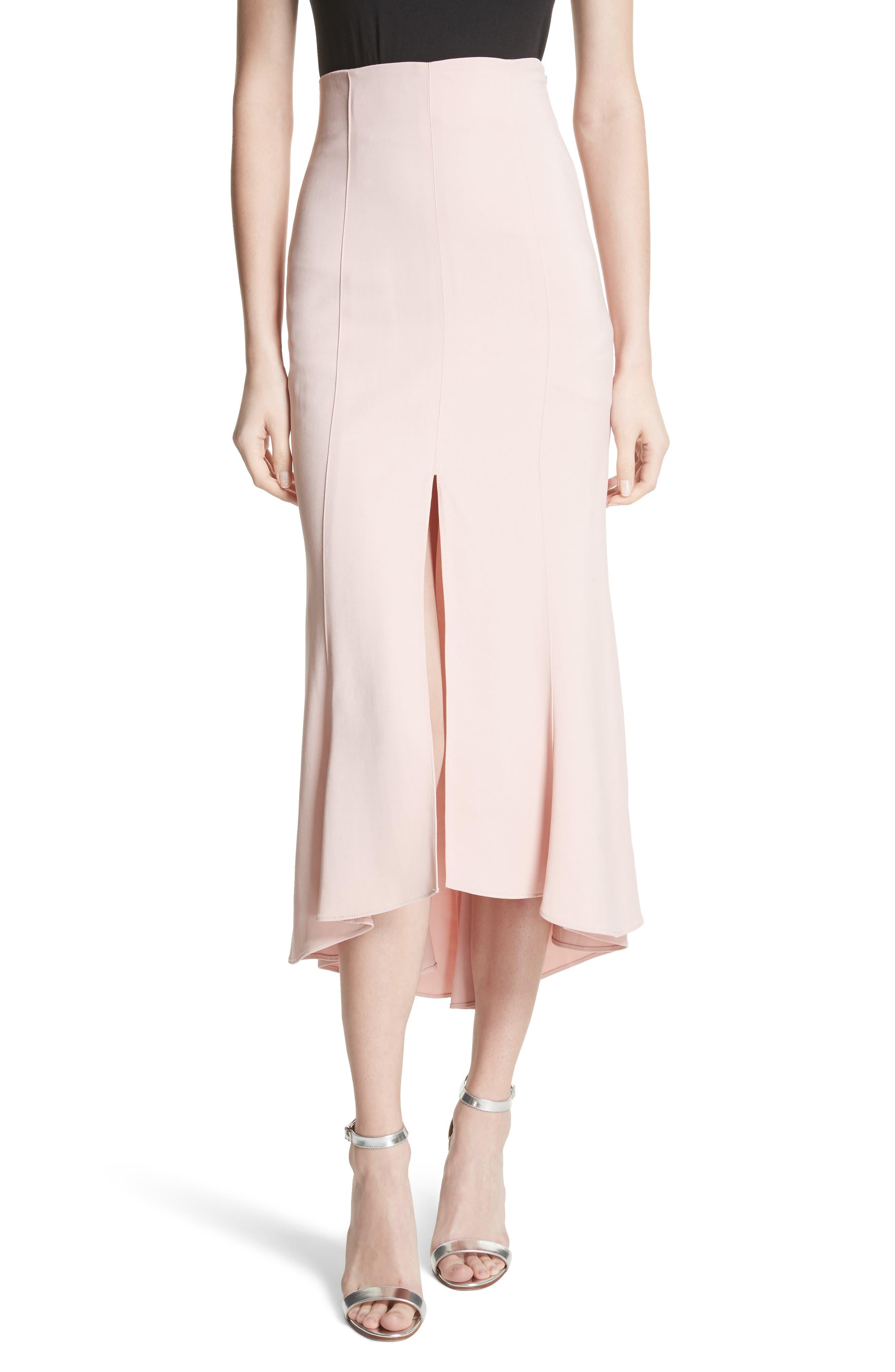 High Waist Midi Skirt,                             Main thumbnail 1, color,                             657