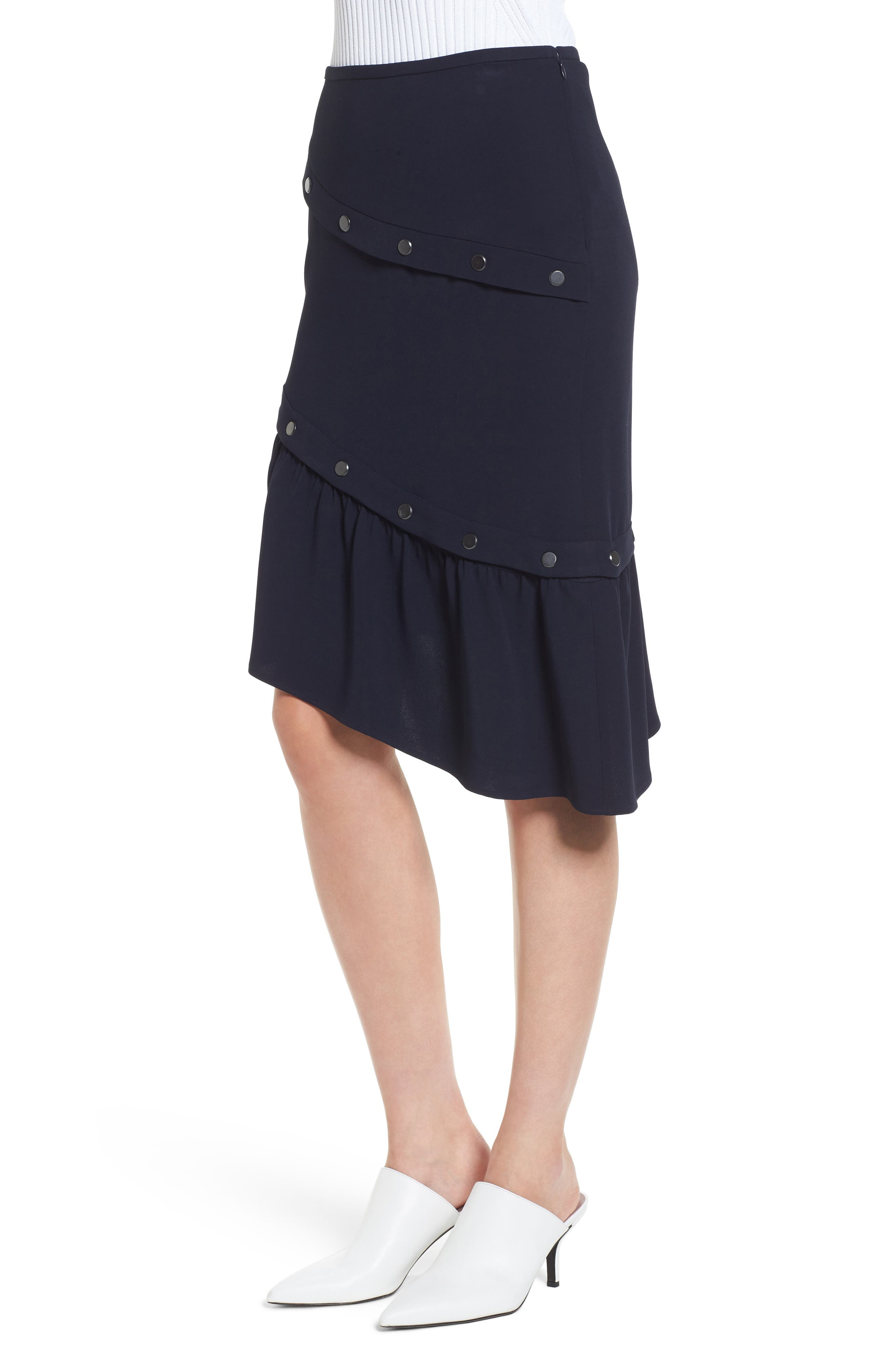 Snap Detail Skirt,                             Alternate thumbnail 3, color,                             410