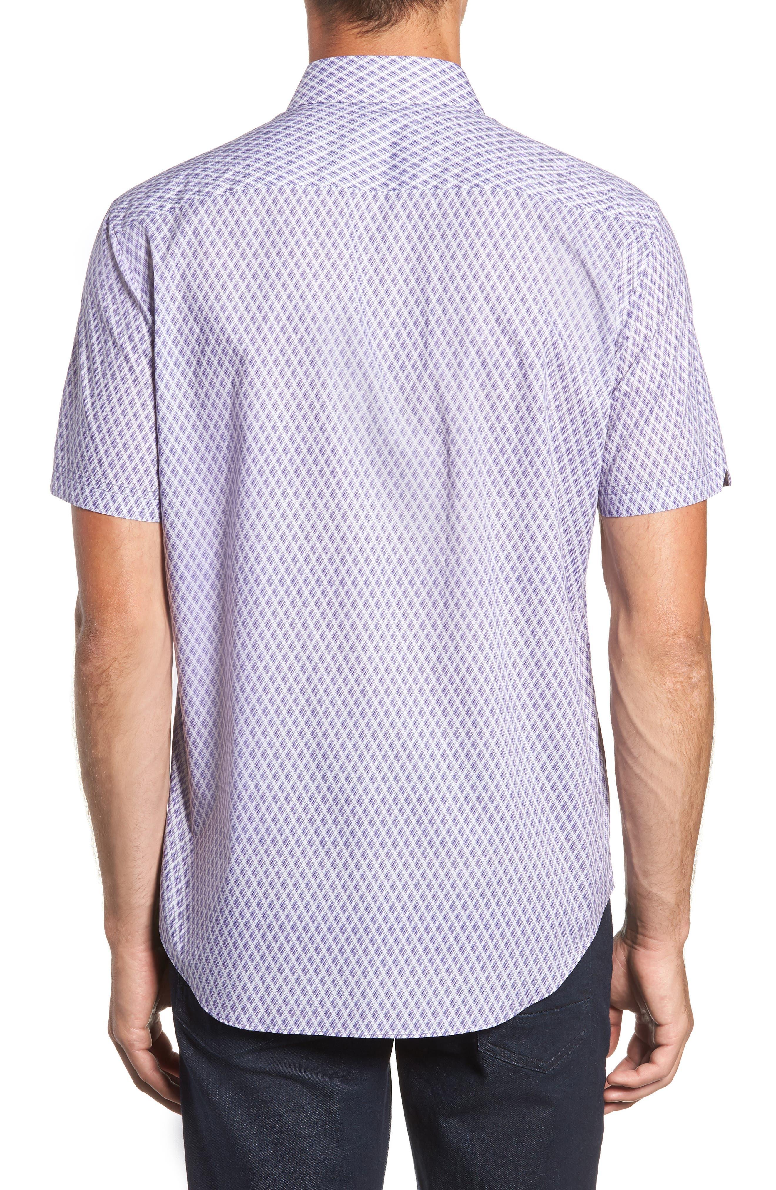 Madorin Regular Fit Sport Shirt,                             Alternate thumbnail 3, color,                             PURPLE