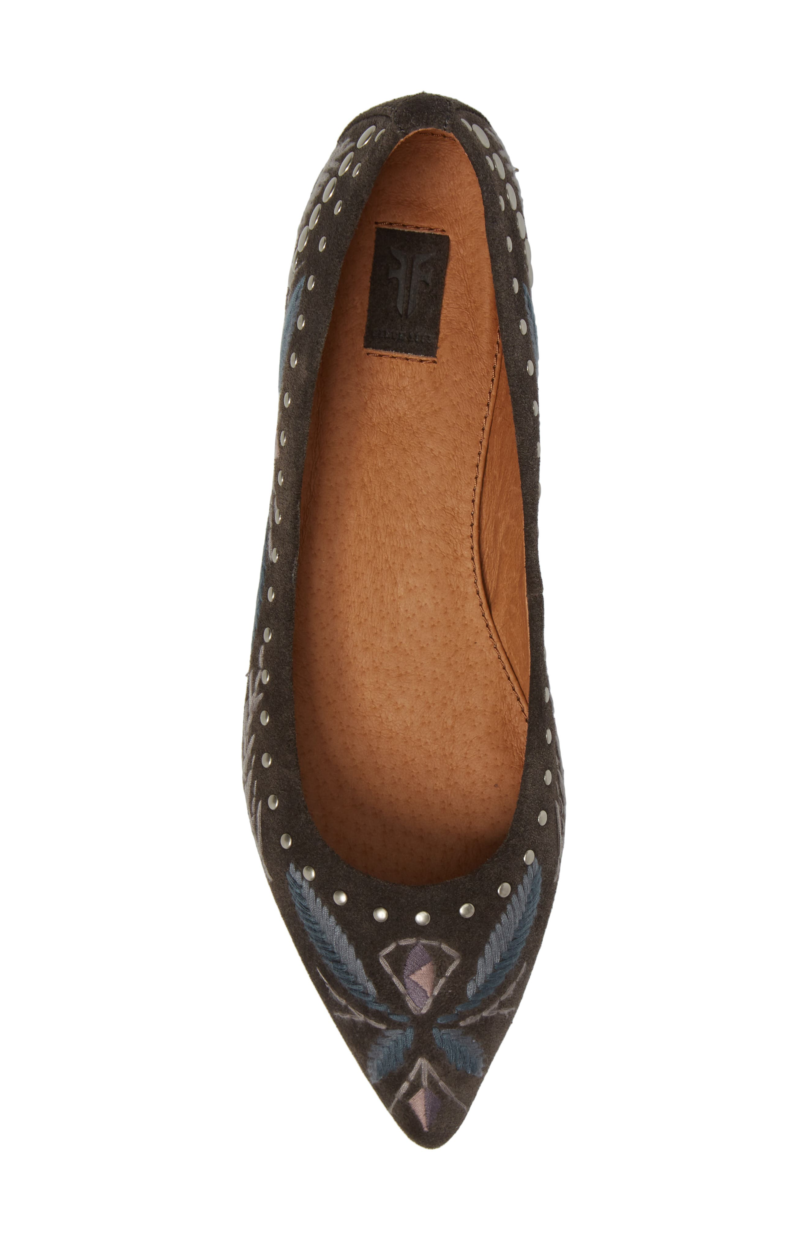 Sienna Embroidered Ballet Flat,                             Alternate thumbnail 5, color,                             030