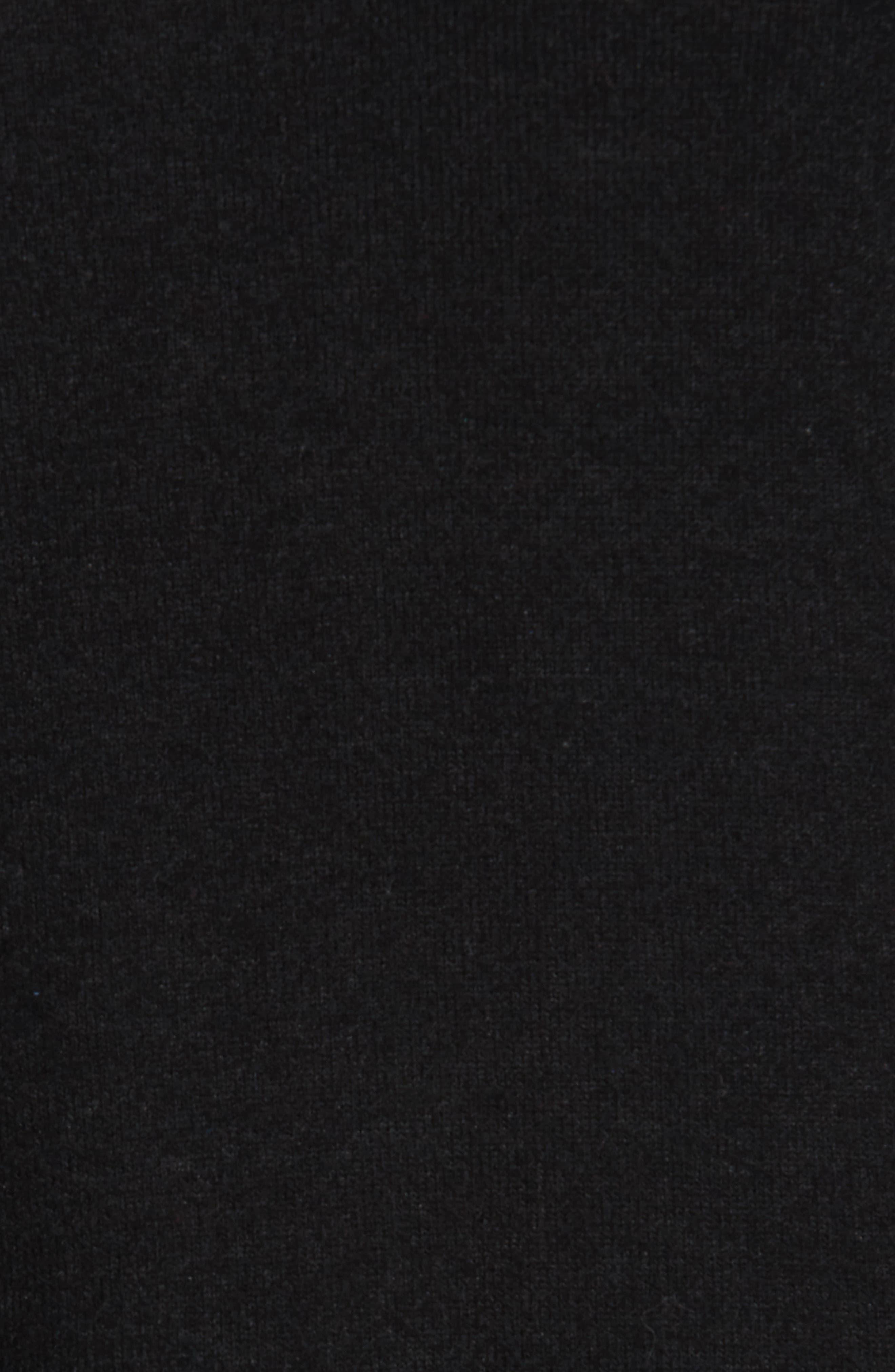 Side-Tie Fleece Pullover,                             Alternate thumbnail 5, color,                             001