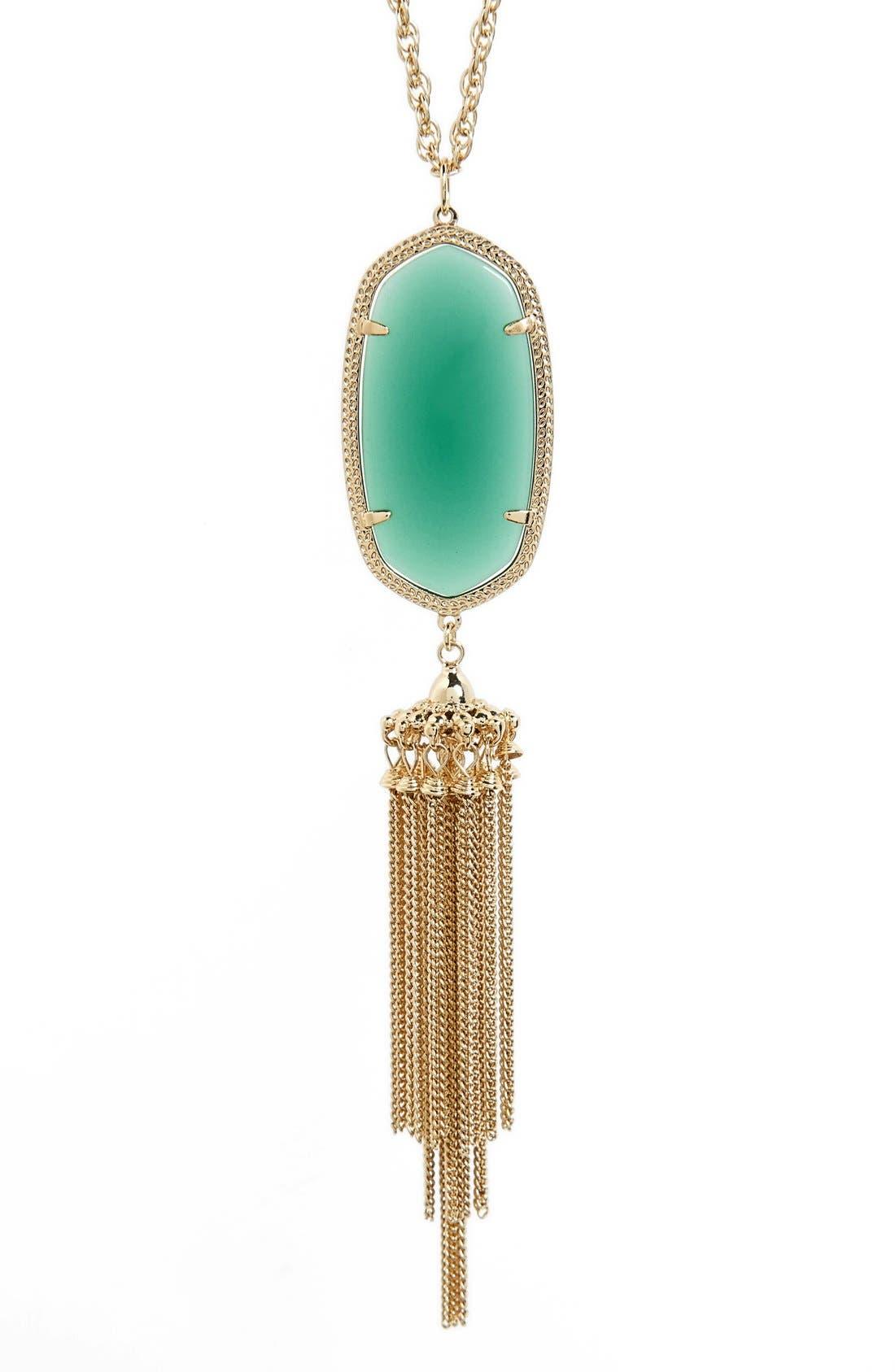 Rayne Stone Tassel Pendant Necklace,                             Alternate thumbnail 115, color,