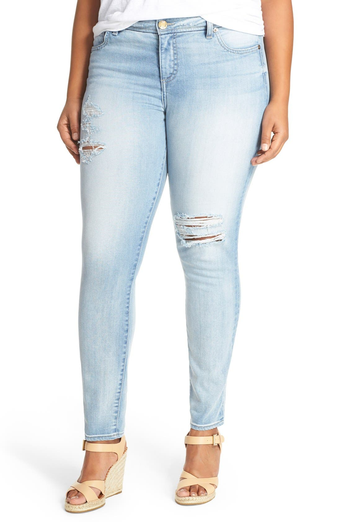 'Adele' Ripped Stretch Slouchy Boyfriend Jeans,                             Main thumbnail 1, color,                             UPGRADE