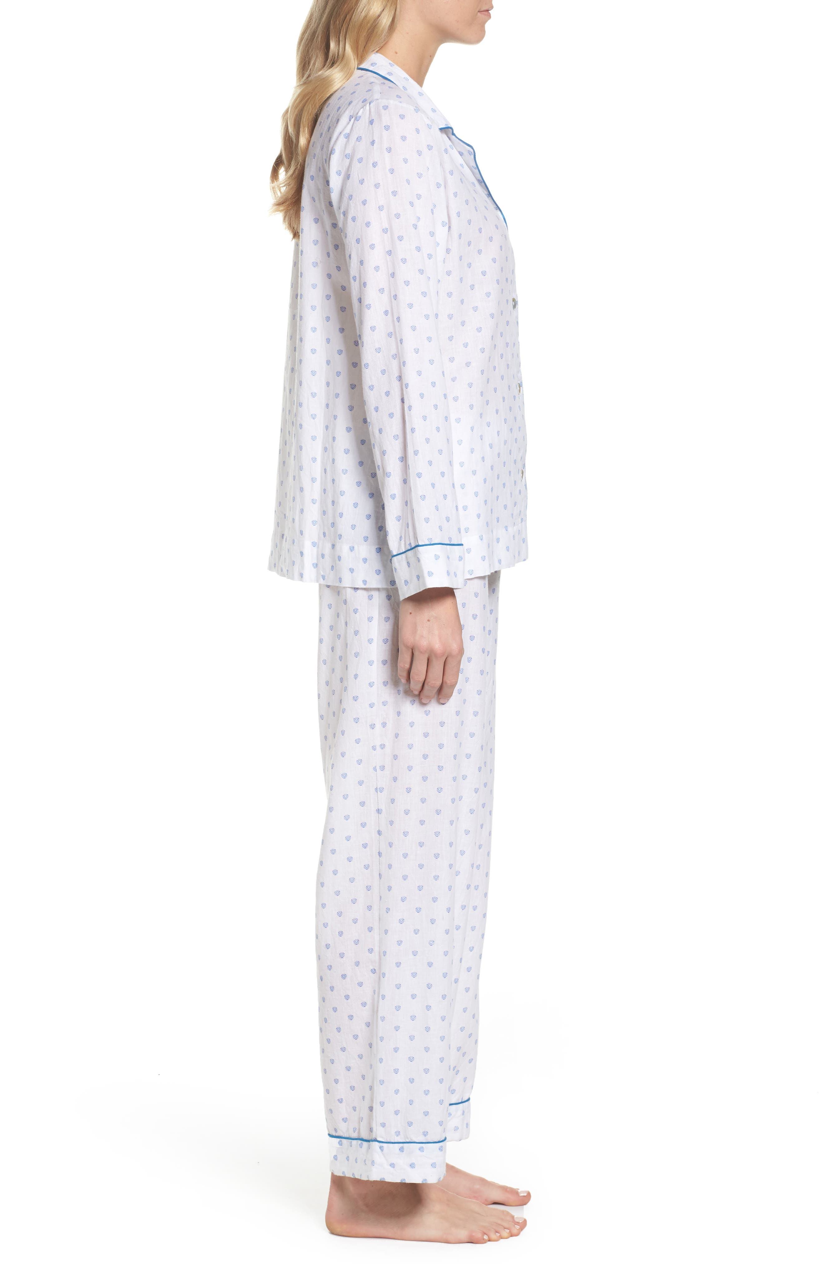Washed Cotton Pajamas,                             Alternate thumbnail 3, color,                             100
