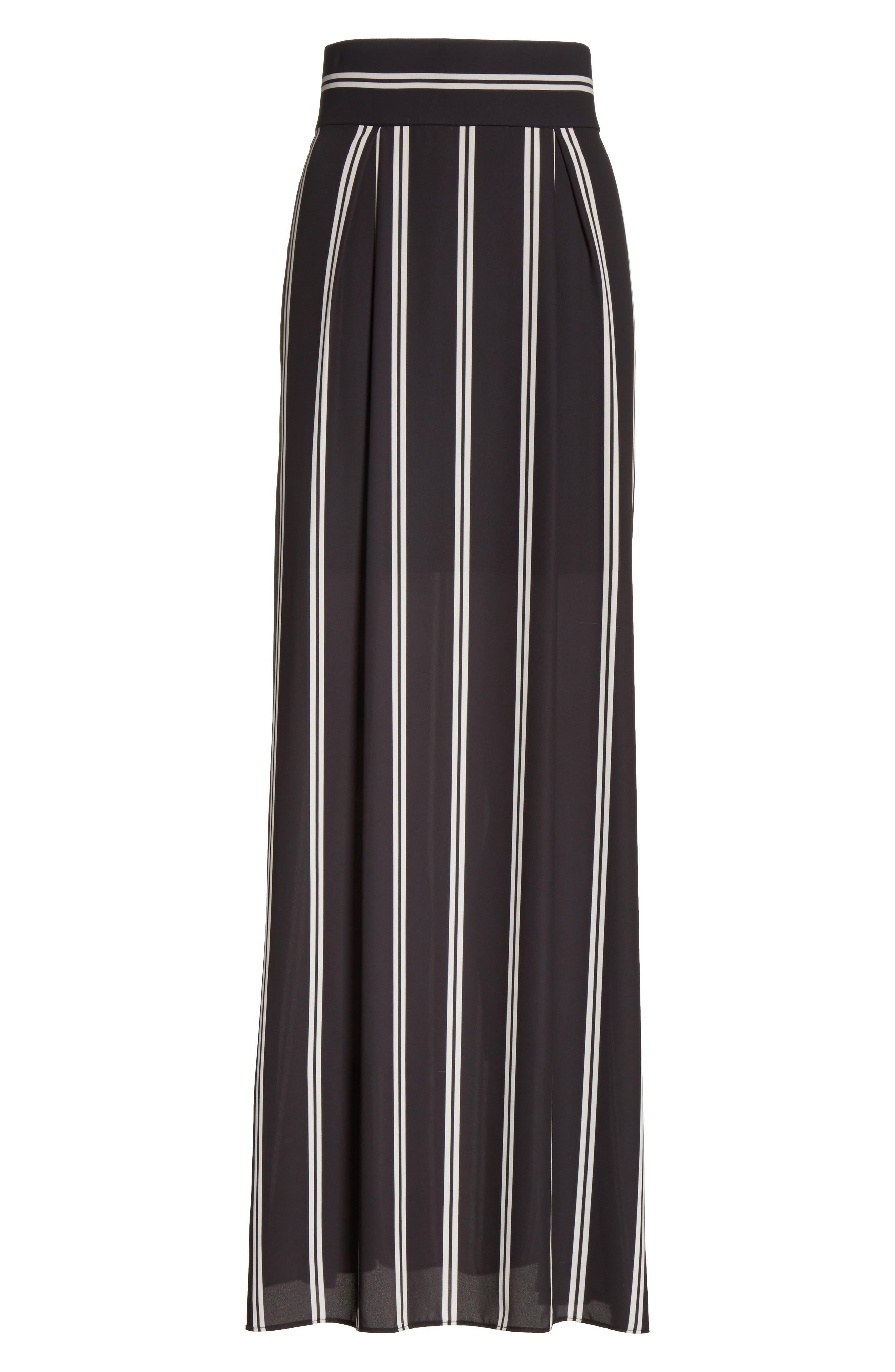 Gabel Clean Pleat Maxi Skirt,                             Alternate thumbnail 6, color,                             002