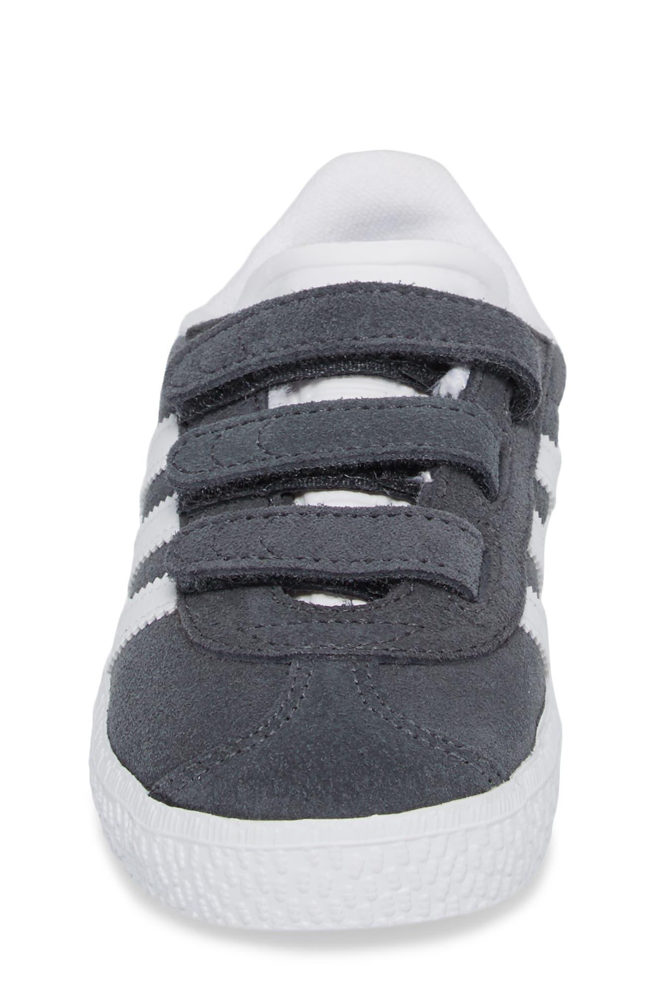 Gazelle Sneaker,                             Alternate thumbnail 4, color,                             SOLID GREY / WHITE / WHITE