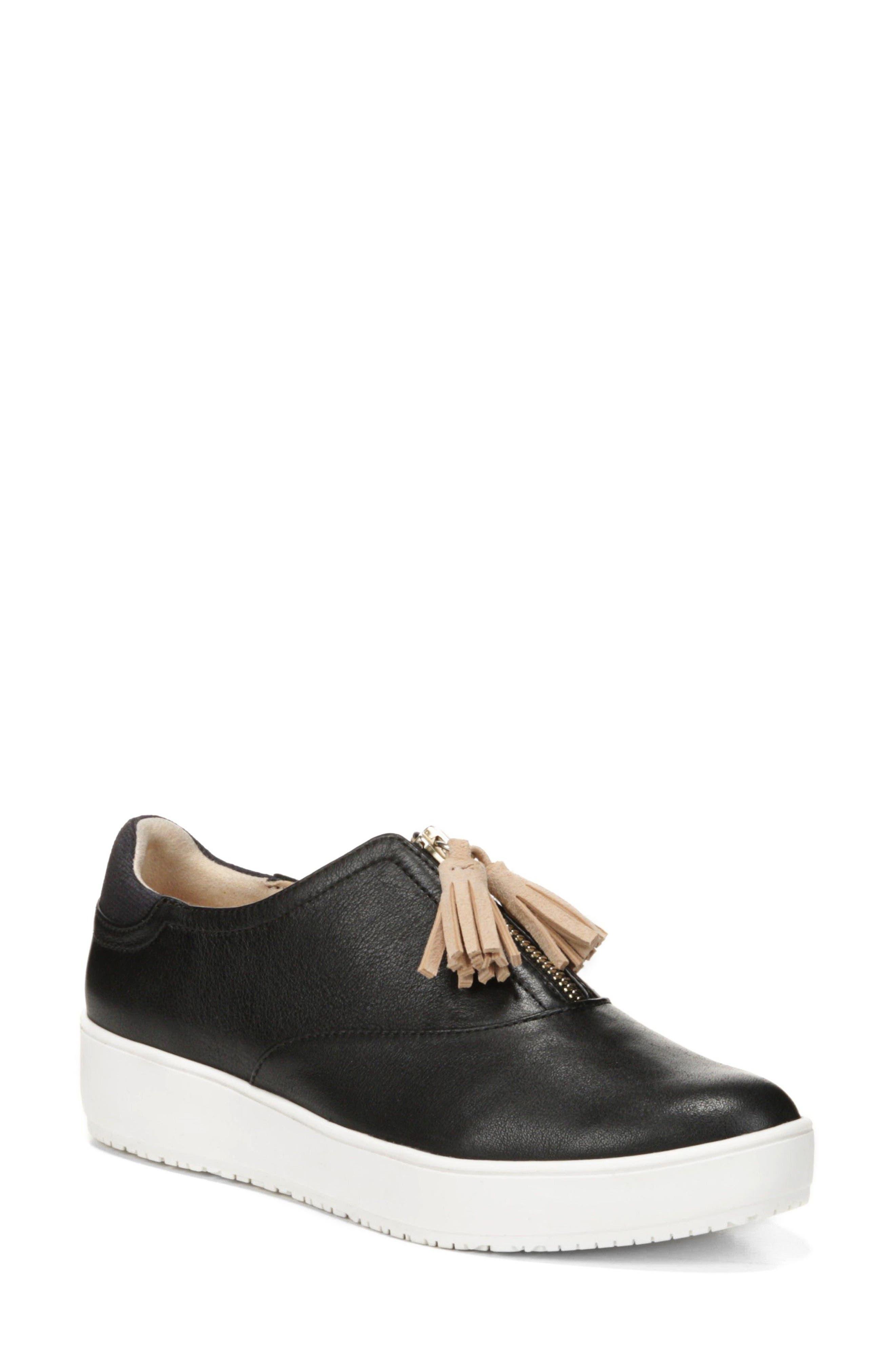 Blakely Tassel Zip Sneaker,                             Main thumbnail 1, color,                             001