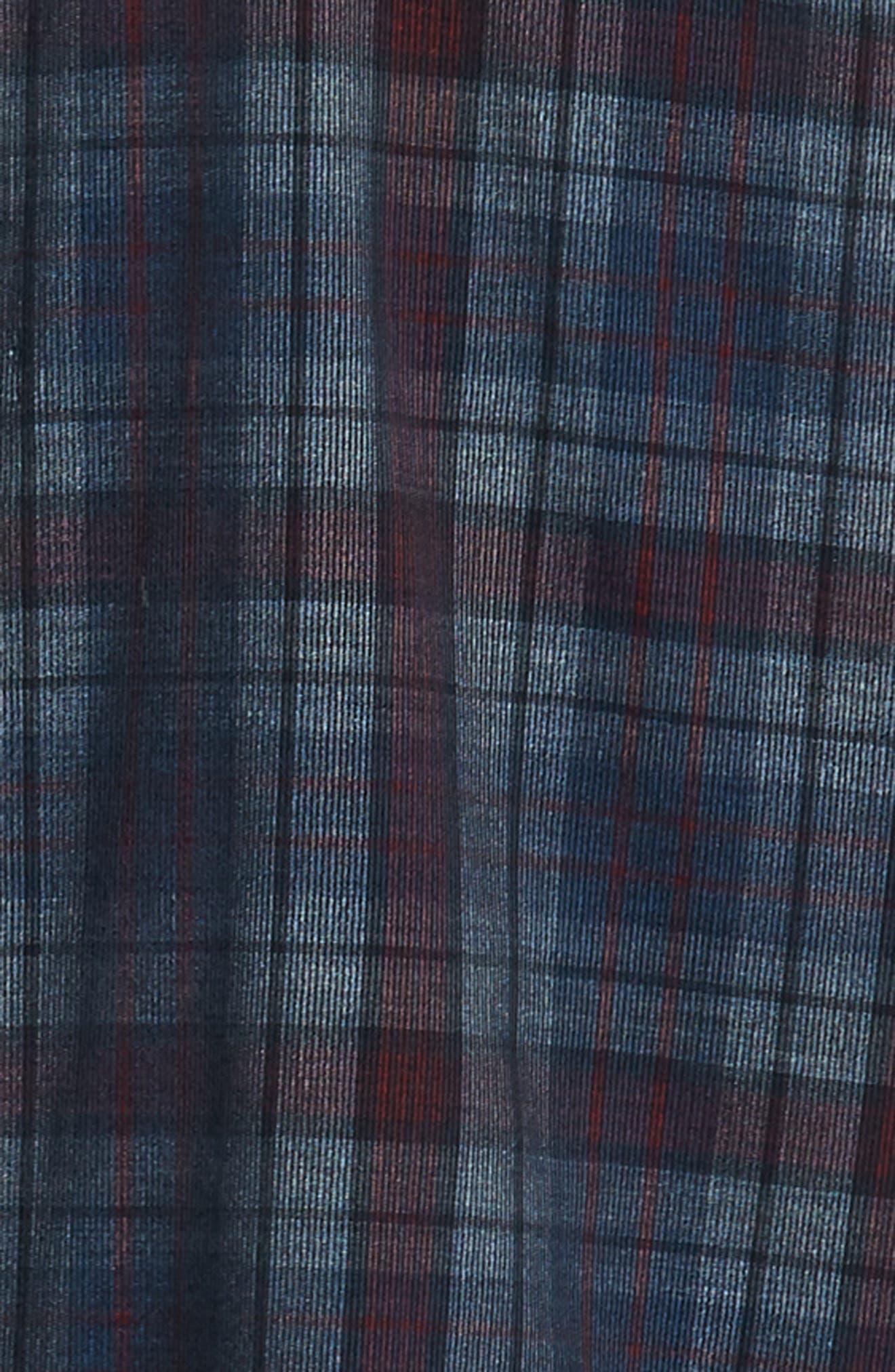 Lemke Regular Fit Corduroy Sport Shirt,                             Alternate thumbnail 6, color,                             NAVY