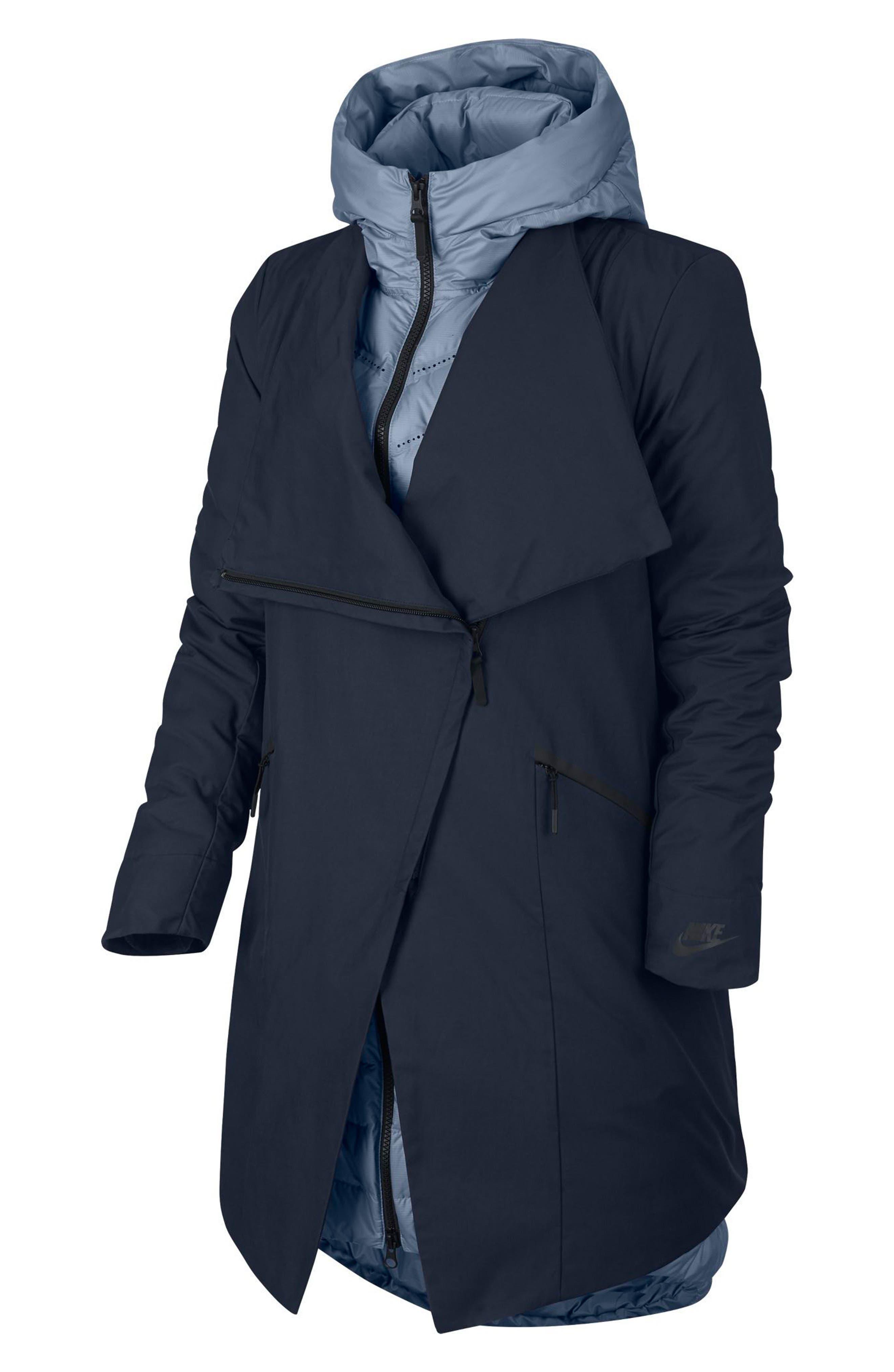 Sportswear Women's AeroLoft 3-in-1 Down Fill Parka,                         Main,                         color, OBSIDIAN/ GLACIER GREY/ BLACK