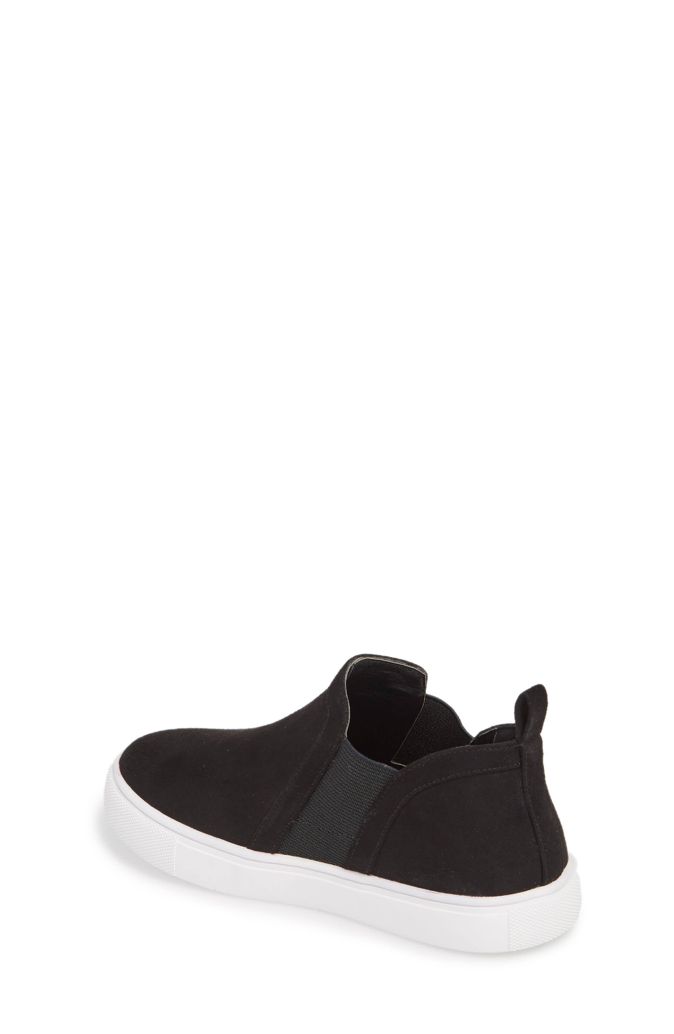 Scarlett Sneaker,                             Alternate thumbnail 2, color,                             BLACK FAUX SUEDE