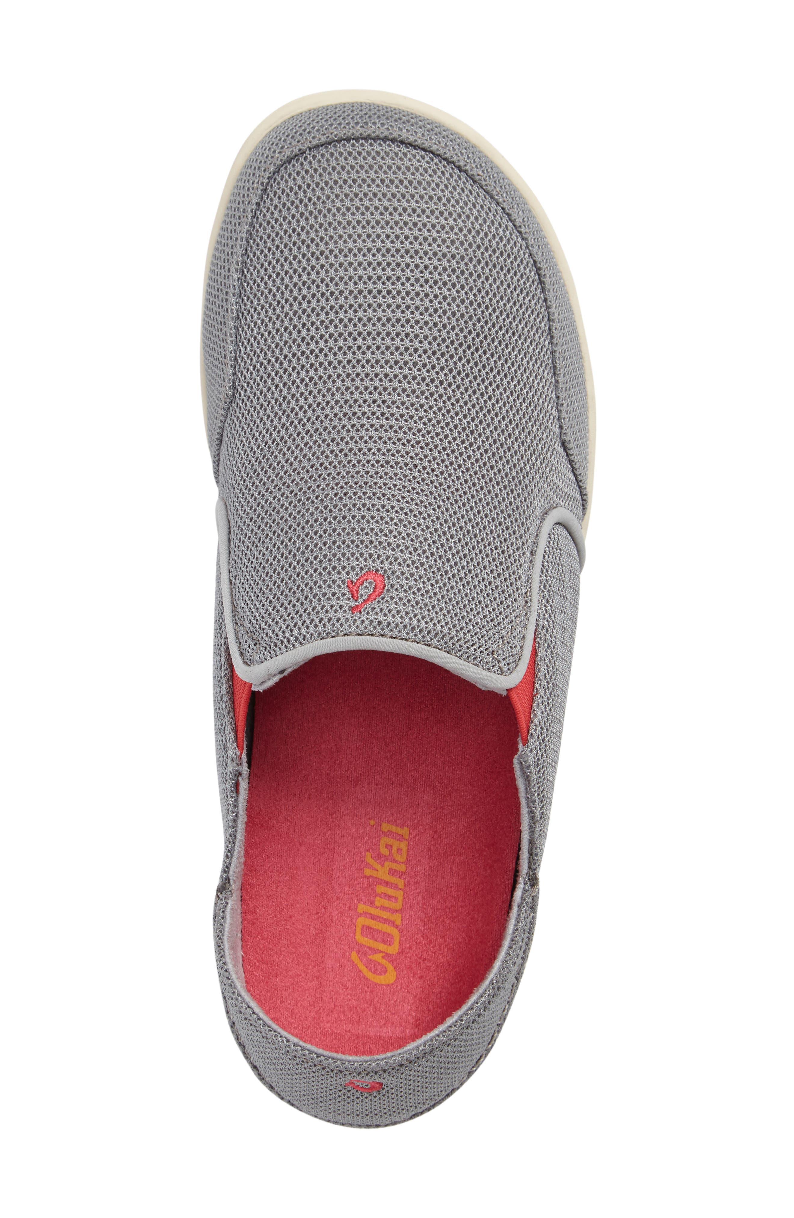 'Nohea' Mesh Shoe,                             Alternate thumbnail 3, color,                             PALE GREY/ DARK HIBISCUS